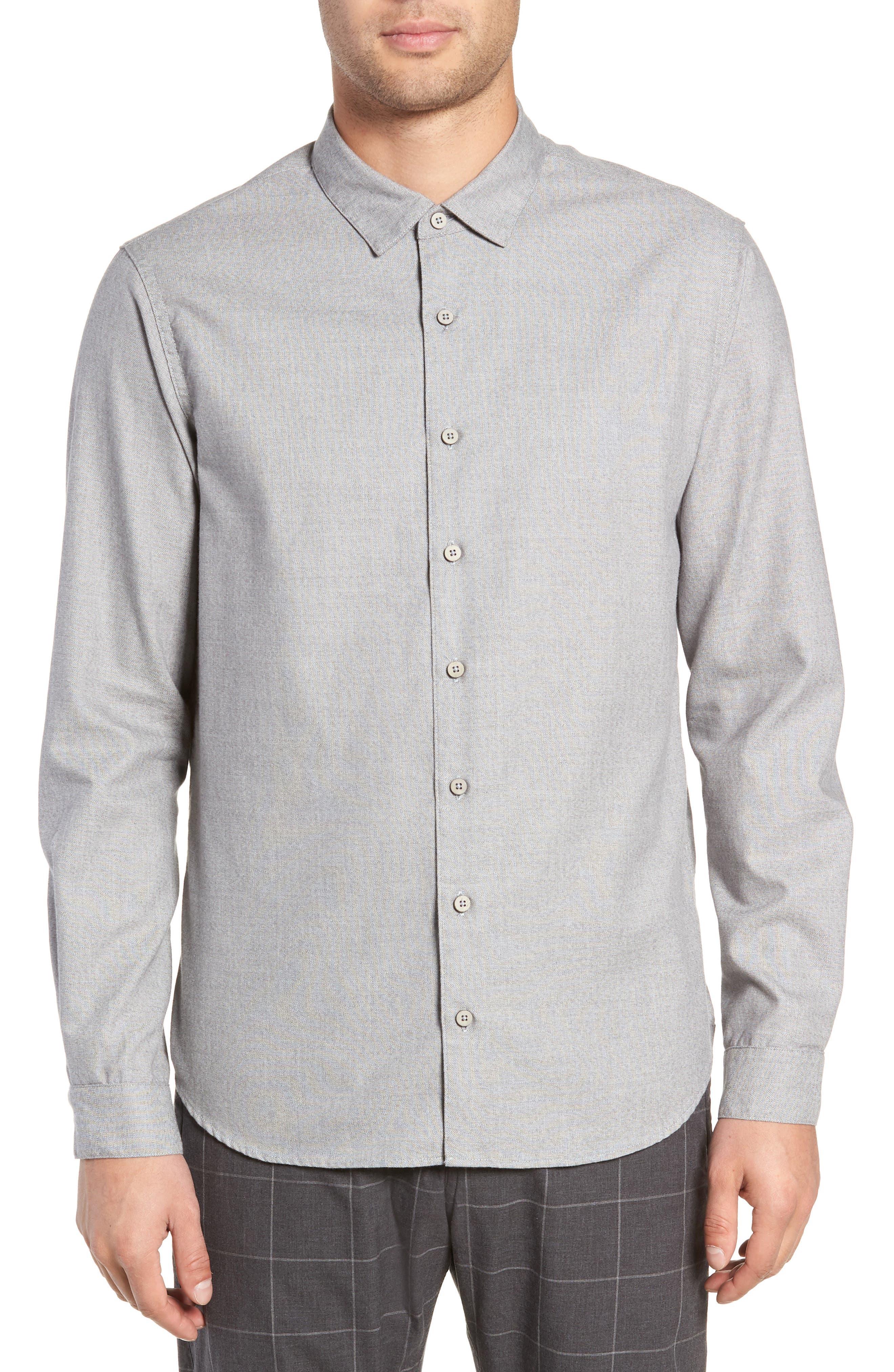 Officer Sport Shirt,                         Main,                         color, MEDIUM GREY