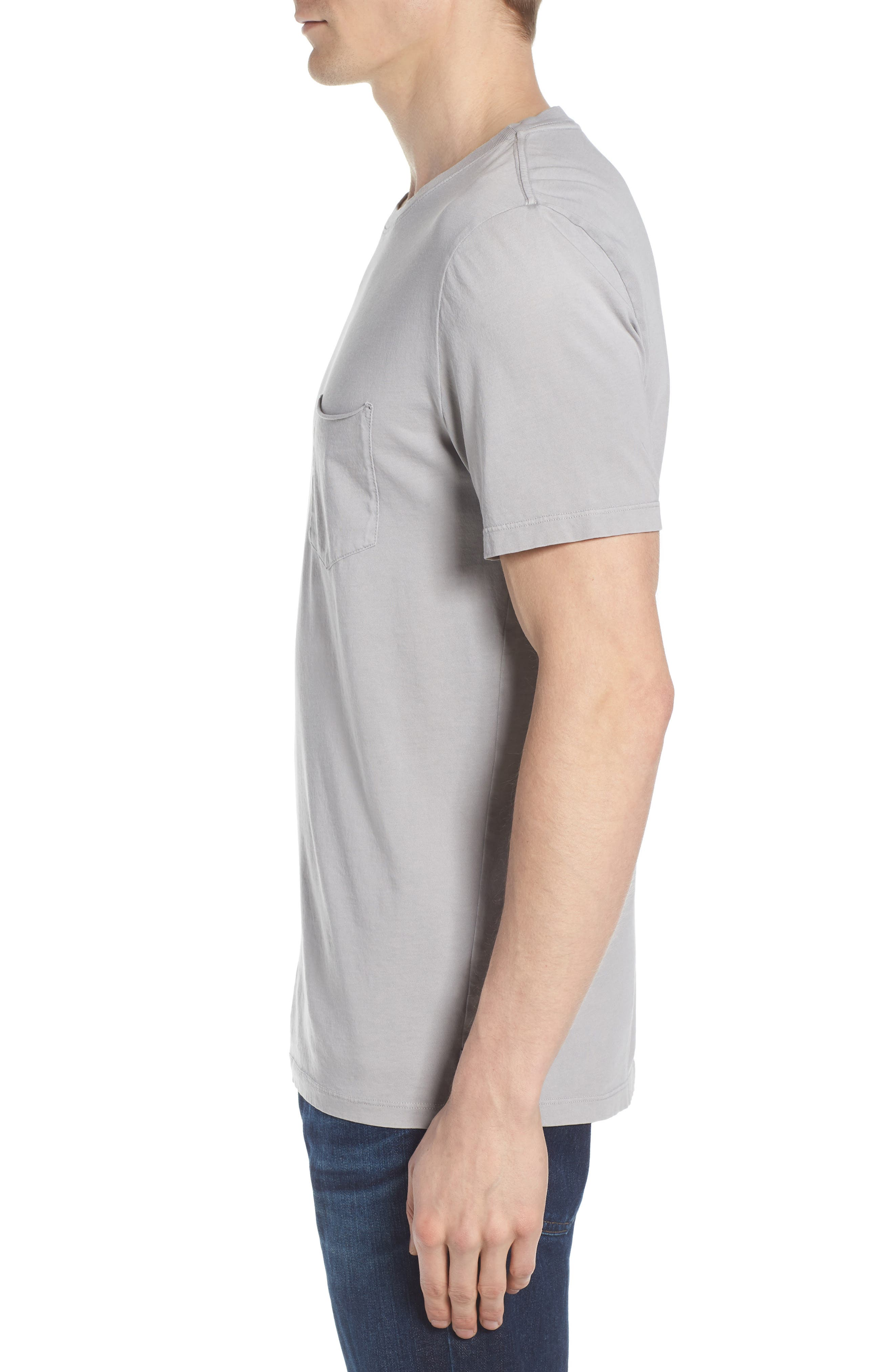 Anders Slim Fit Pocket T-Shirt,                             Alternate thumbnail 3, color,                             SUN FADED PEBBLE BEACH
