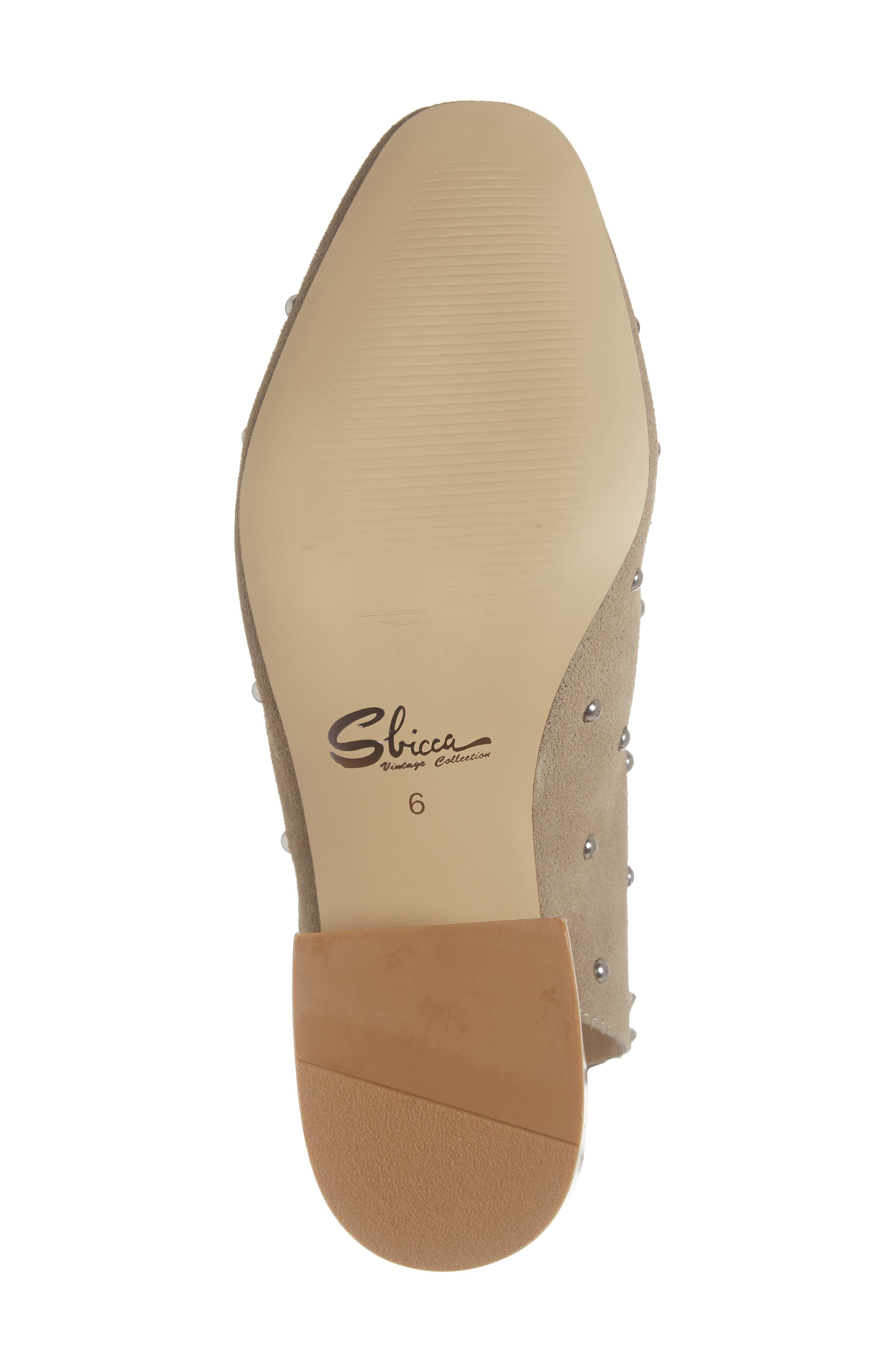 SBICCA,                             Janette Block Heel Pump,                             Alternate thumbnail 6, color,                             STONE LEATHER