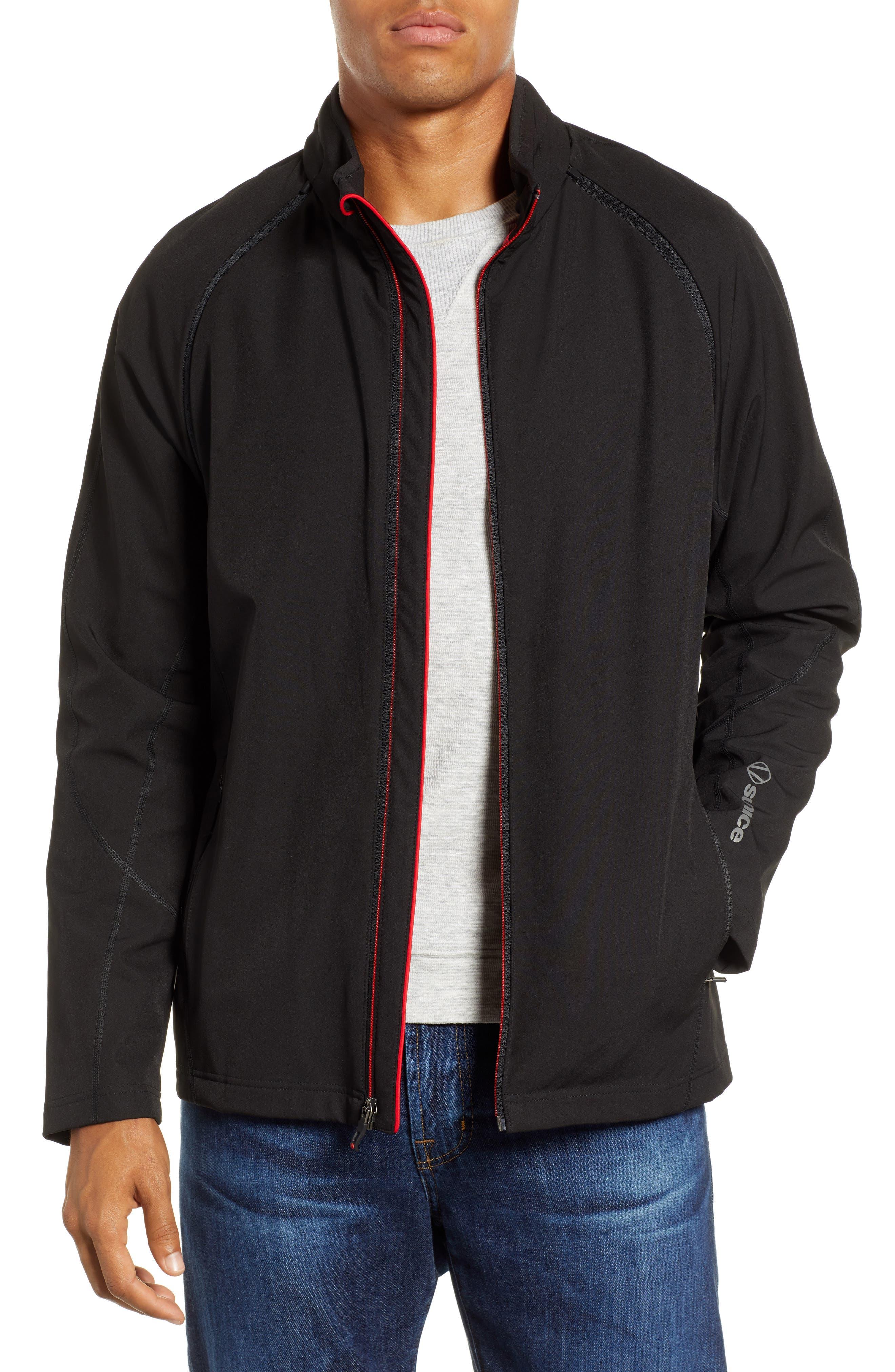 Hanson Water Repellent Convertible Jacket,                             Main thumbnail 1, color,                             BLACK