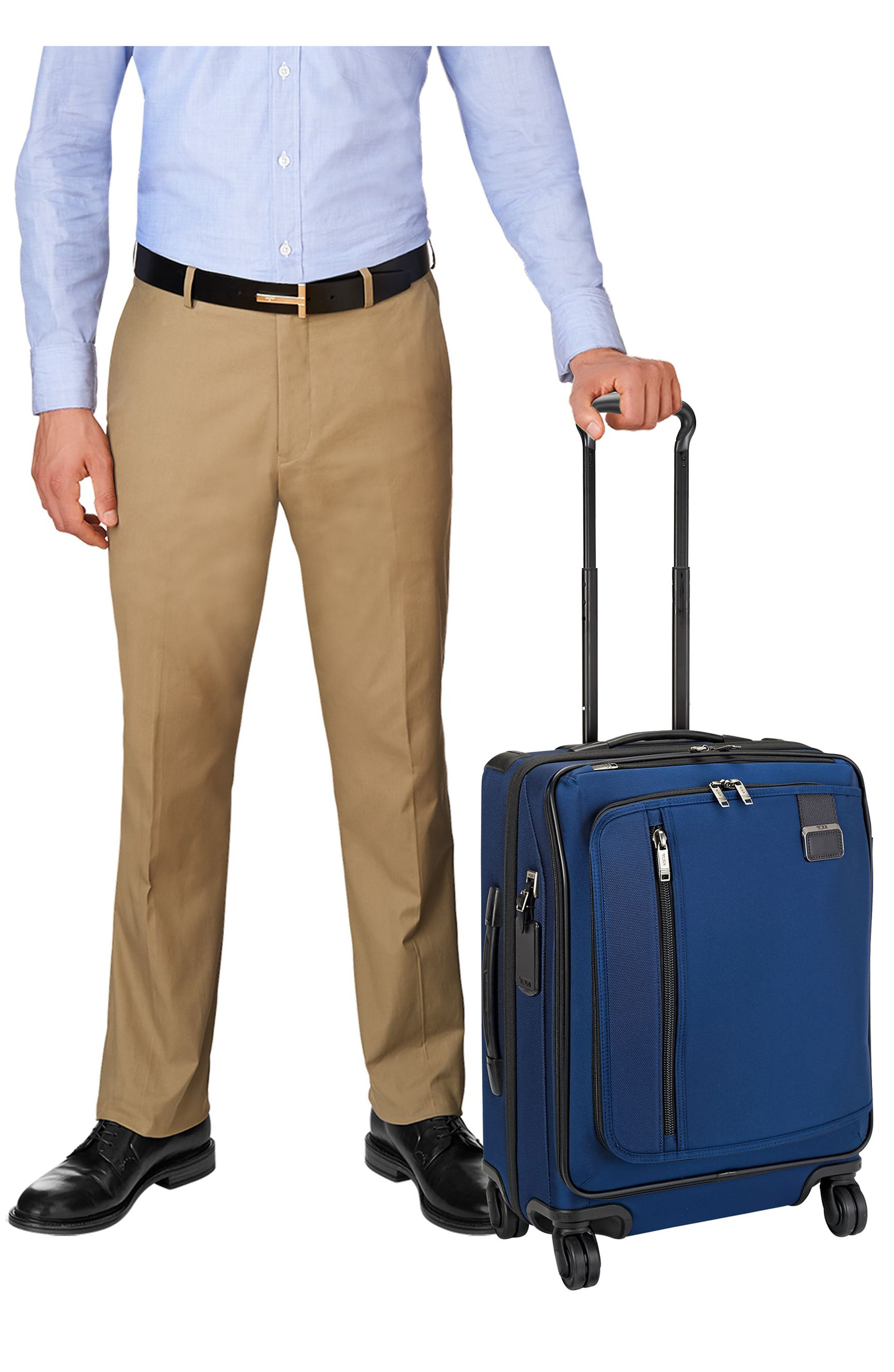 Merge - 22-Inch Continental Expandable Rolling Carry-On,                             Alternate thumbnail 5, color,                             OCEAN BLUE