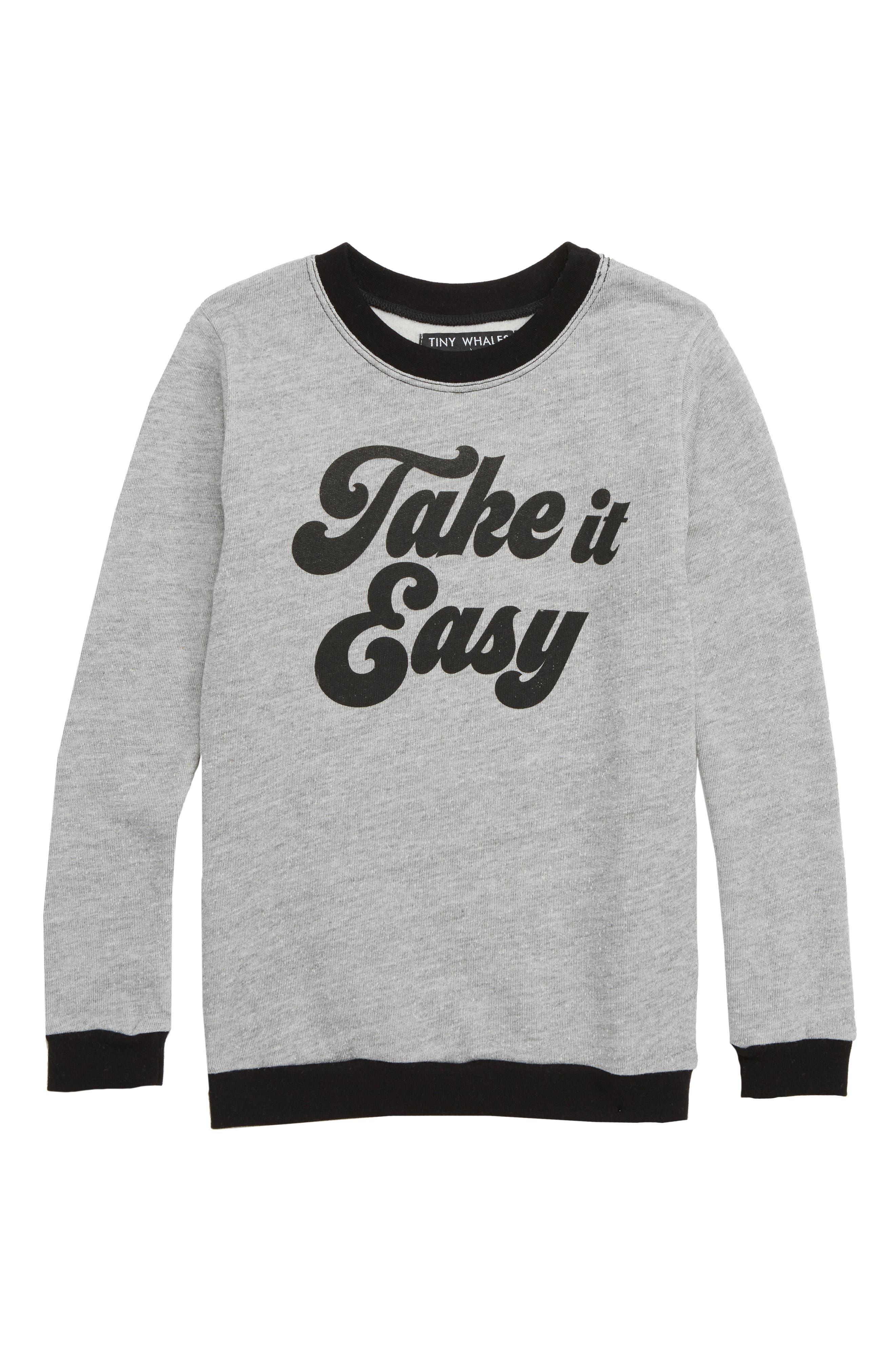 Boys Tiny Whales Take It Easy Sweatshirt