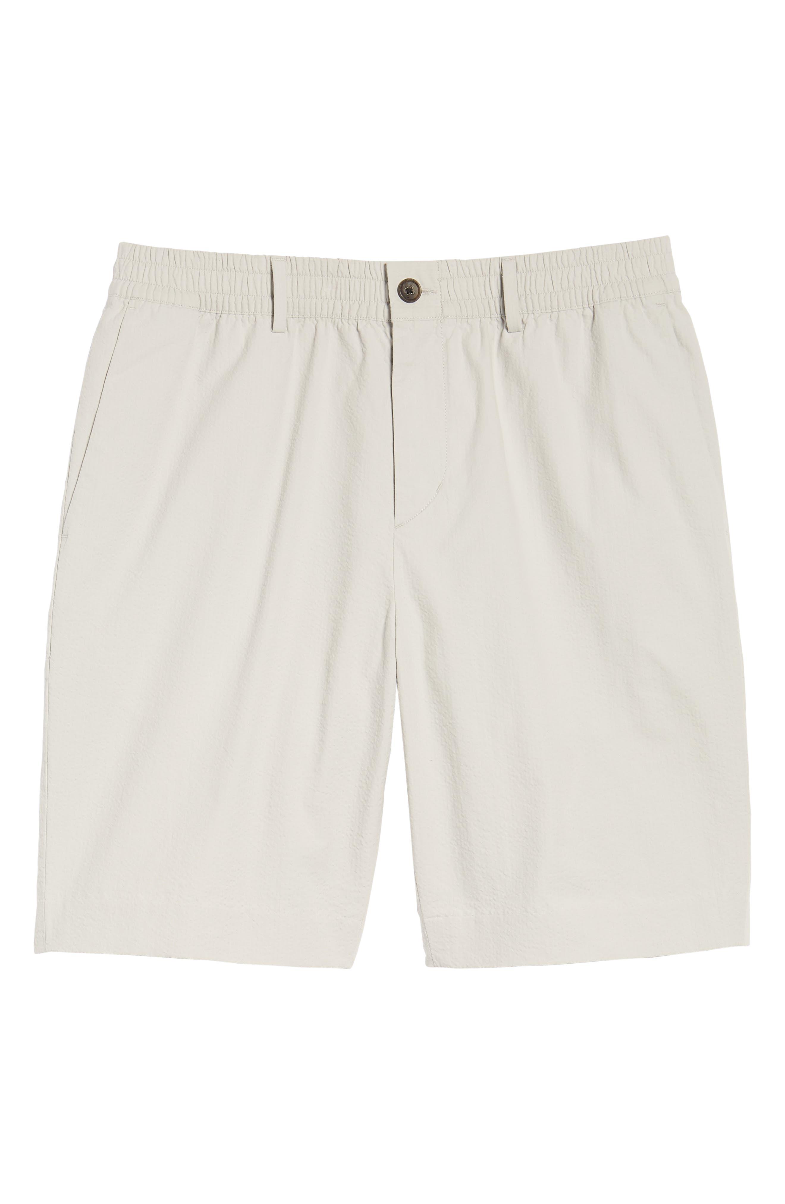 Elastic Waist Seersucker Shorts,                             Alternate thumbnail 6, color,                             030