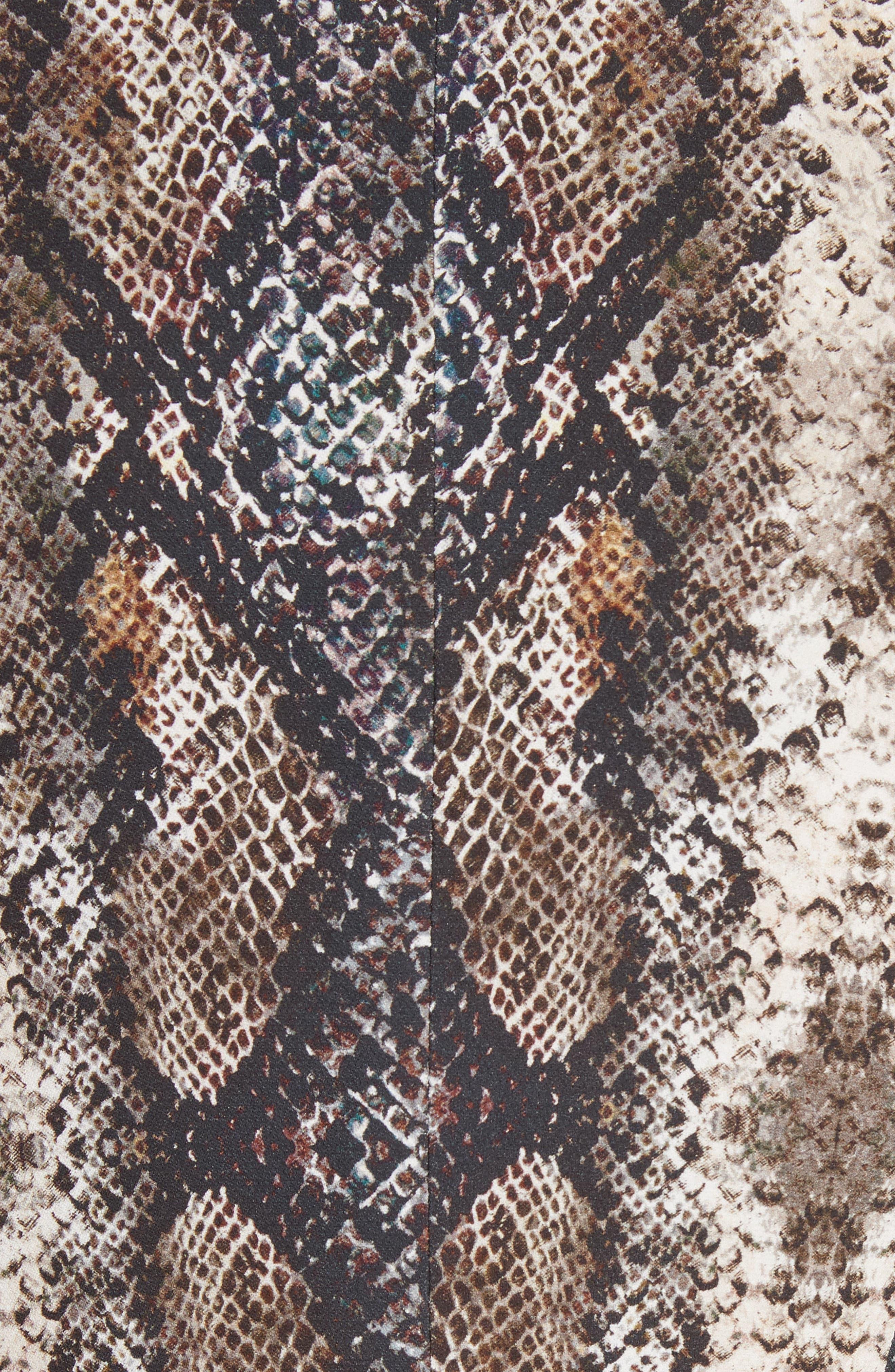 Snake Print Blazer,                             Alternate thumbnail 6, color,                             080