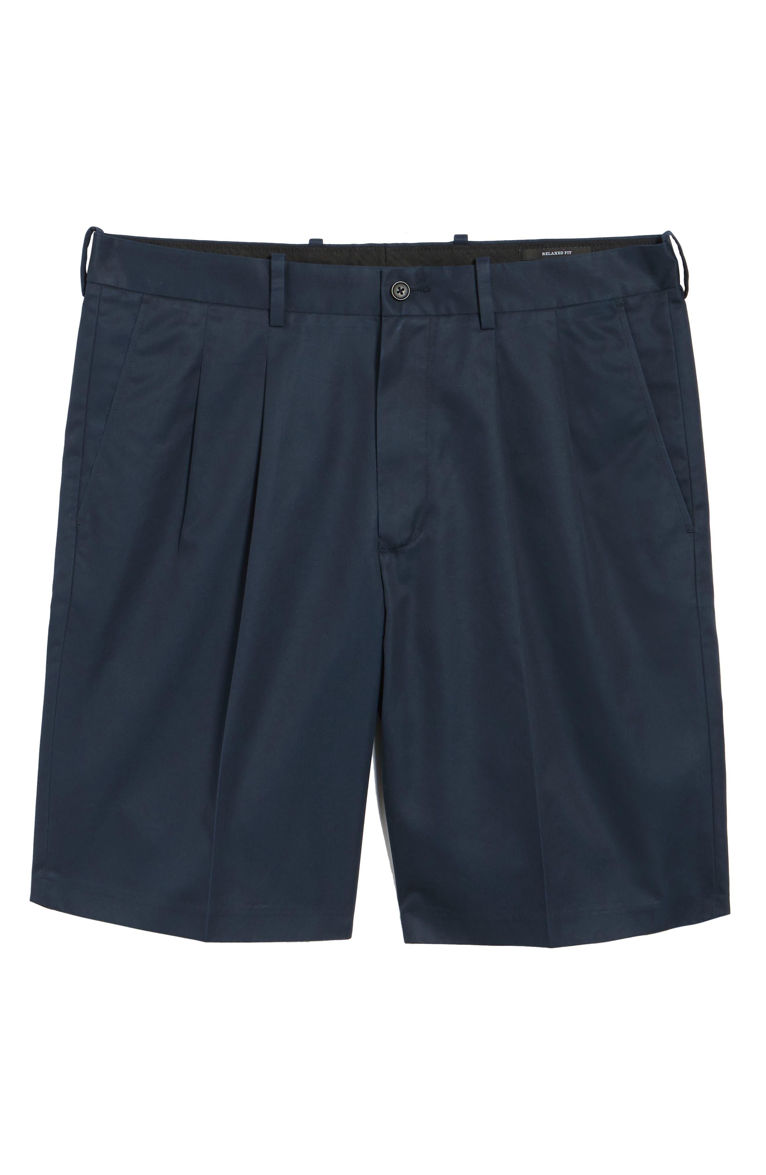 Pleated Supima<sup>®</sup> Cotton Shorts,                             Alternate thumbnail 28, color,