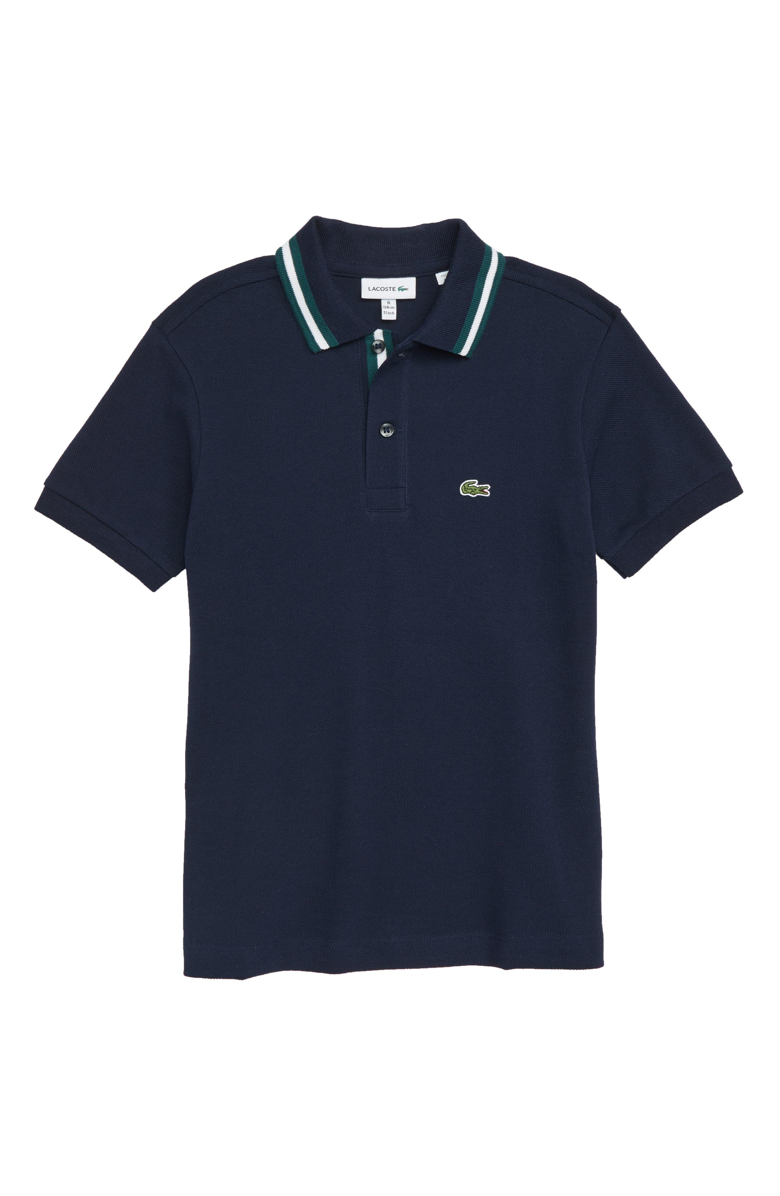 Piqué Polo,                         Main,                         color, NAVY / WHITE