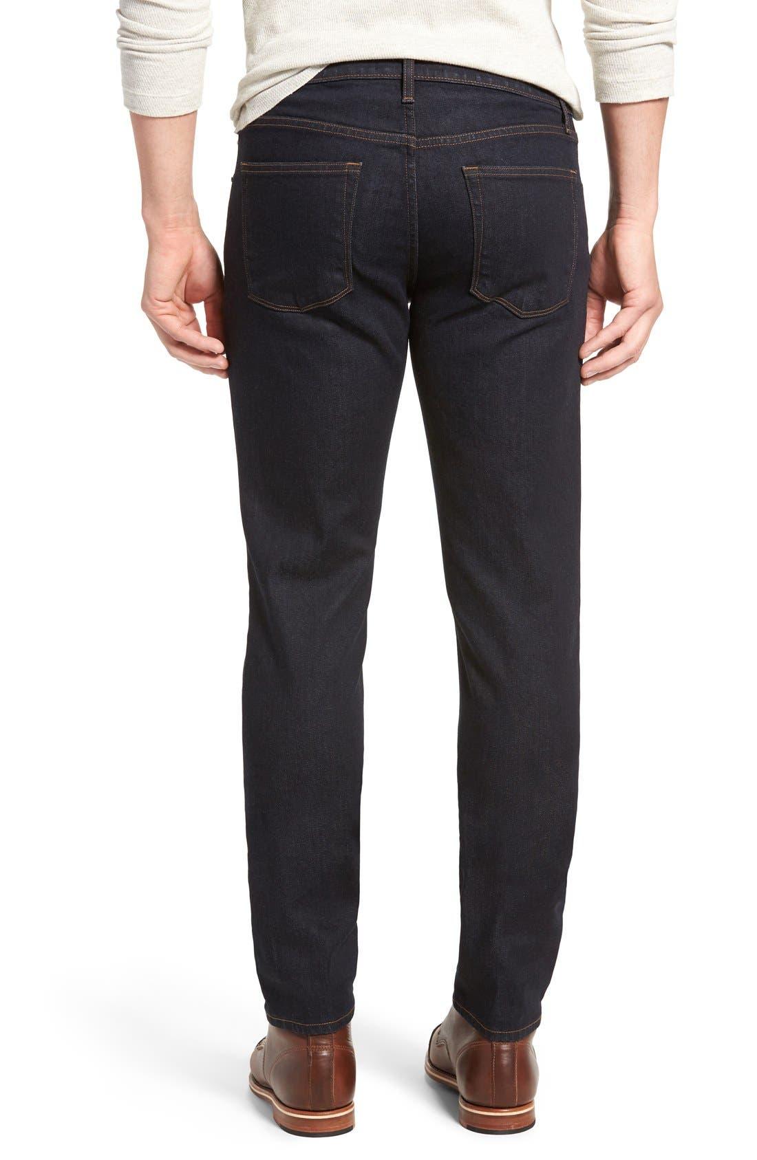 Tyler Slim Fit Jeans,                             Alternate thumbnail 3, color,                             WILSON BLUE