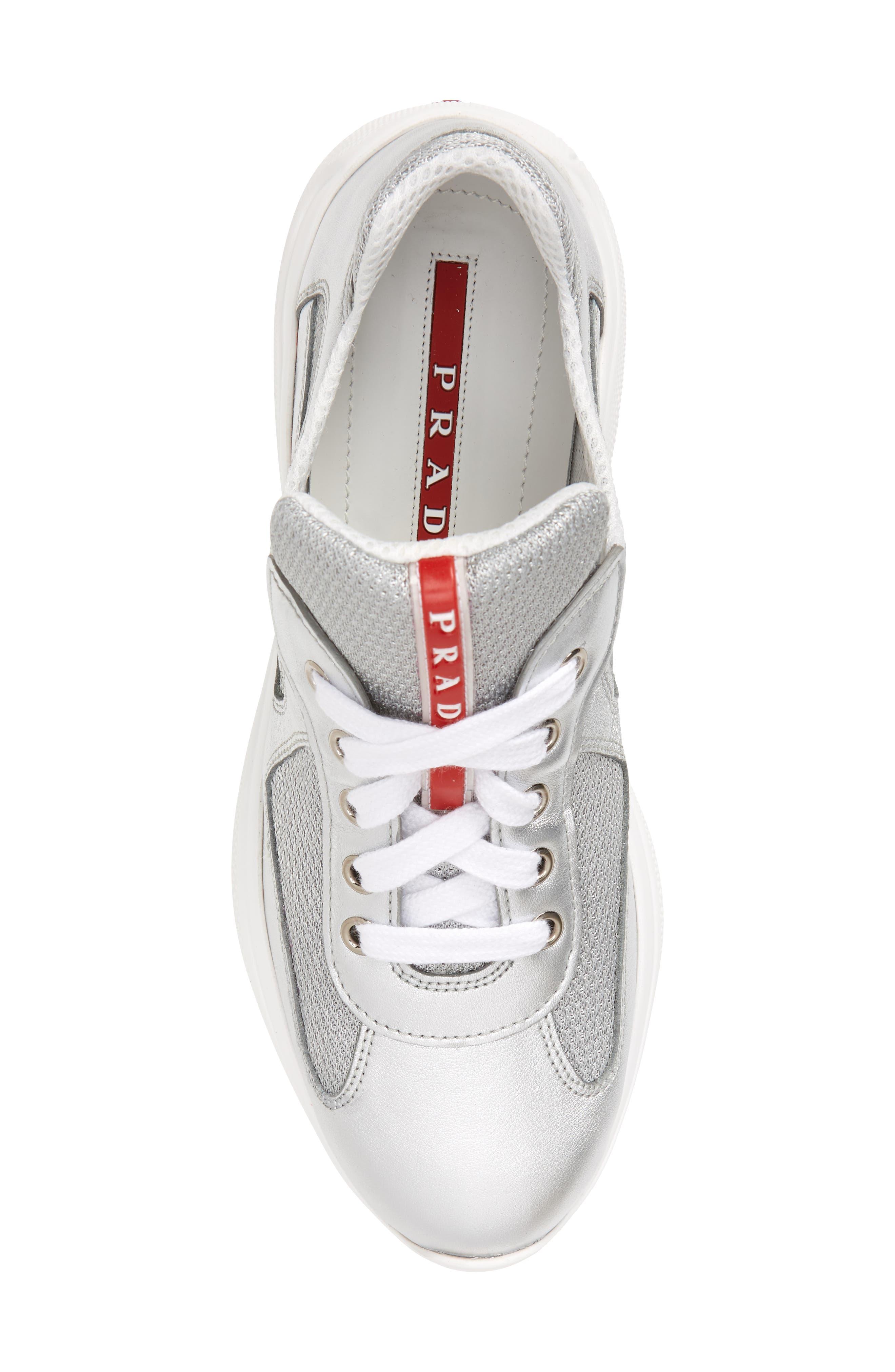 Low-Top Sneaker,                             Alternate thumbnail 5, color,                             METALLIC SILVER