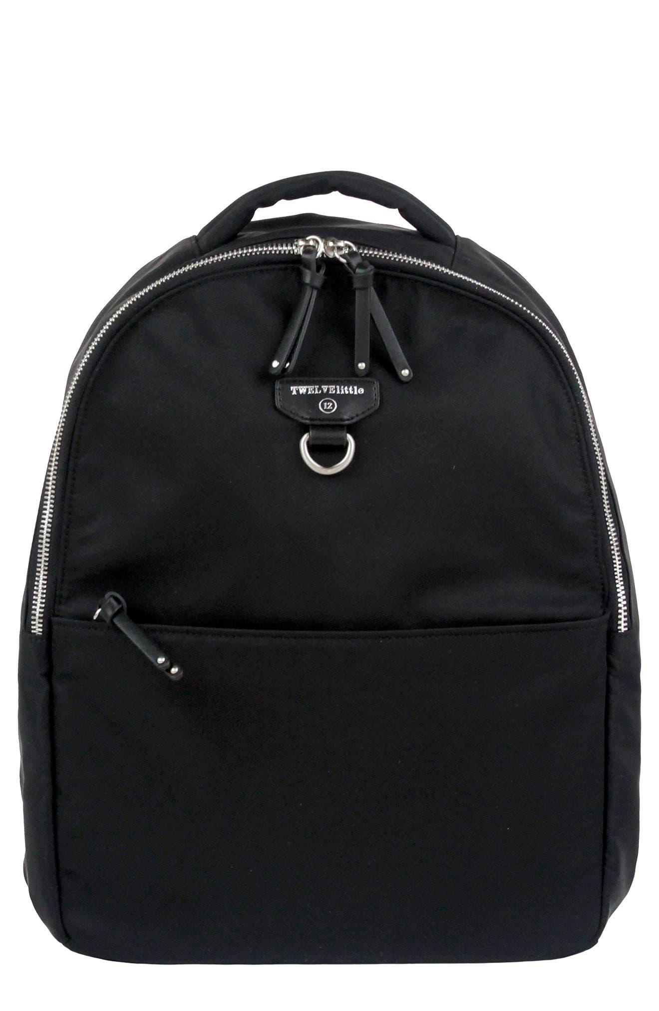 Mini-Go Water Resistant Diaper Backpack,                             Main thumbnail 1, color,                             BLACK