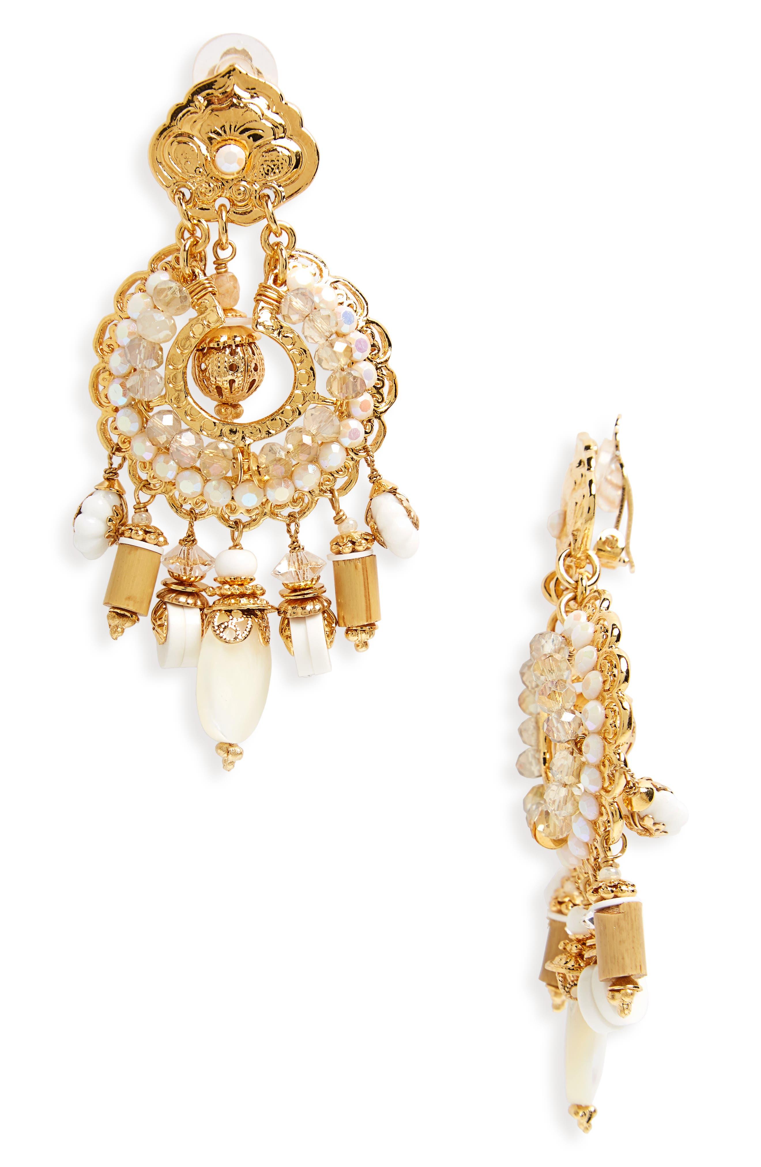 Aicha Clip Earrings,                         Main,                         color, 710