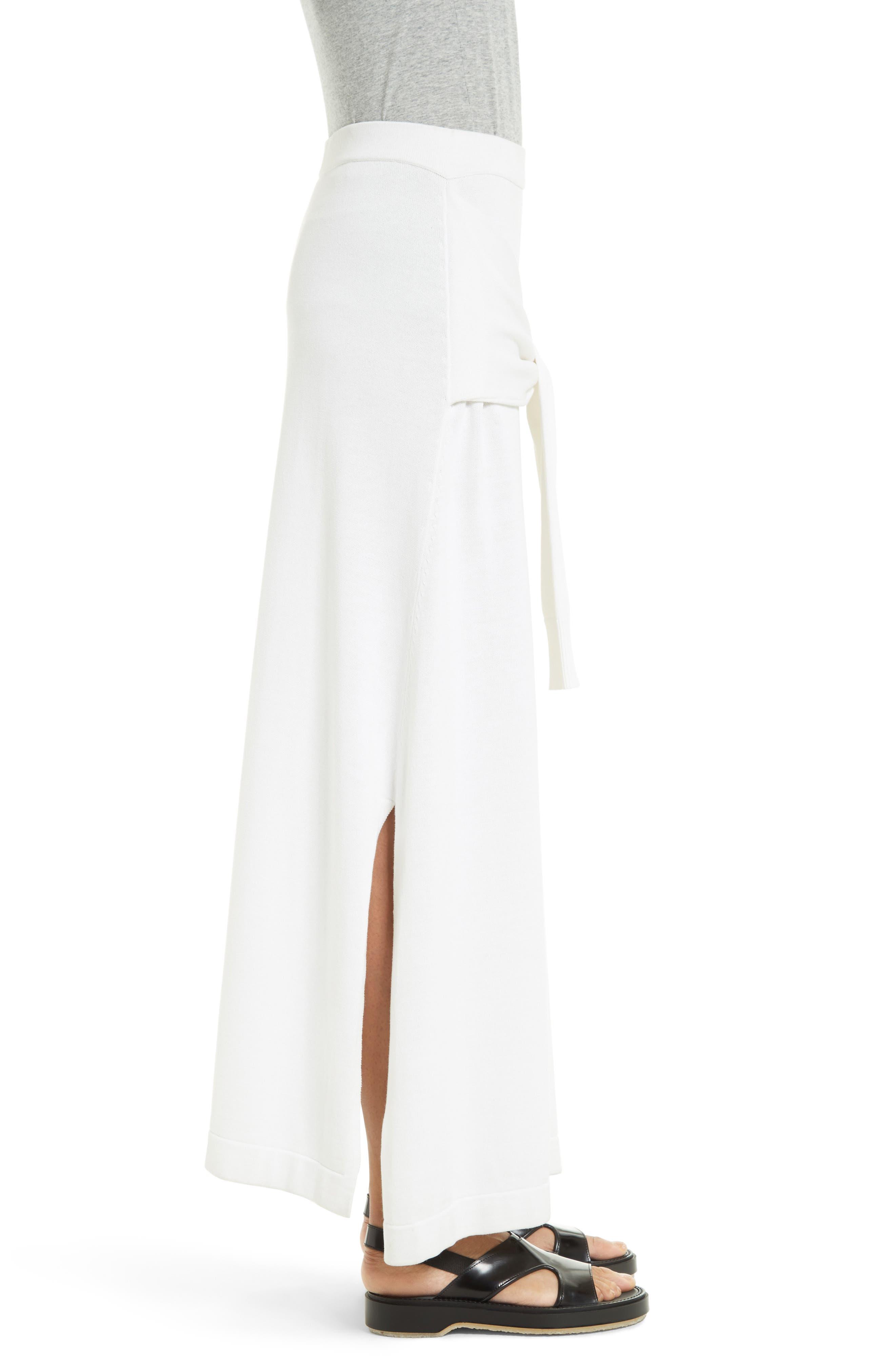 Tie Detail Knit Maxi Skirt,                             Alternate thumbnail 3, color,                             110