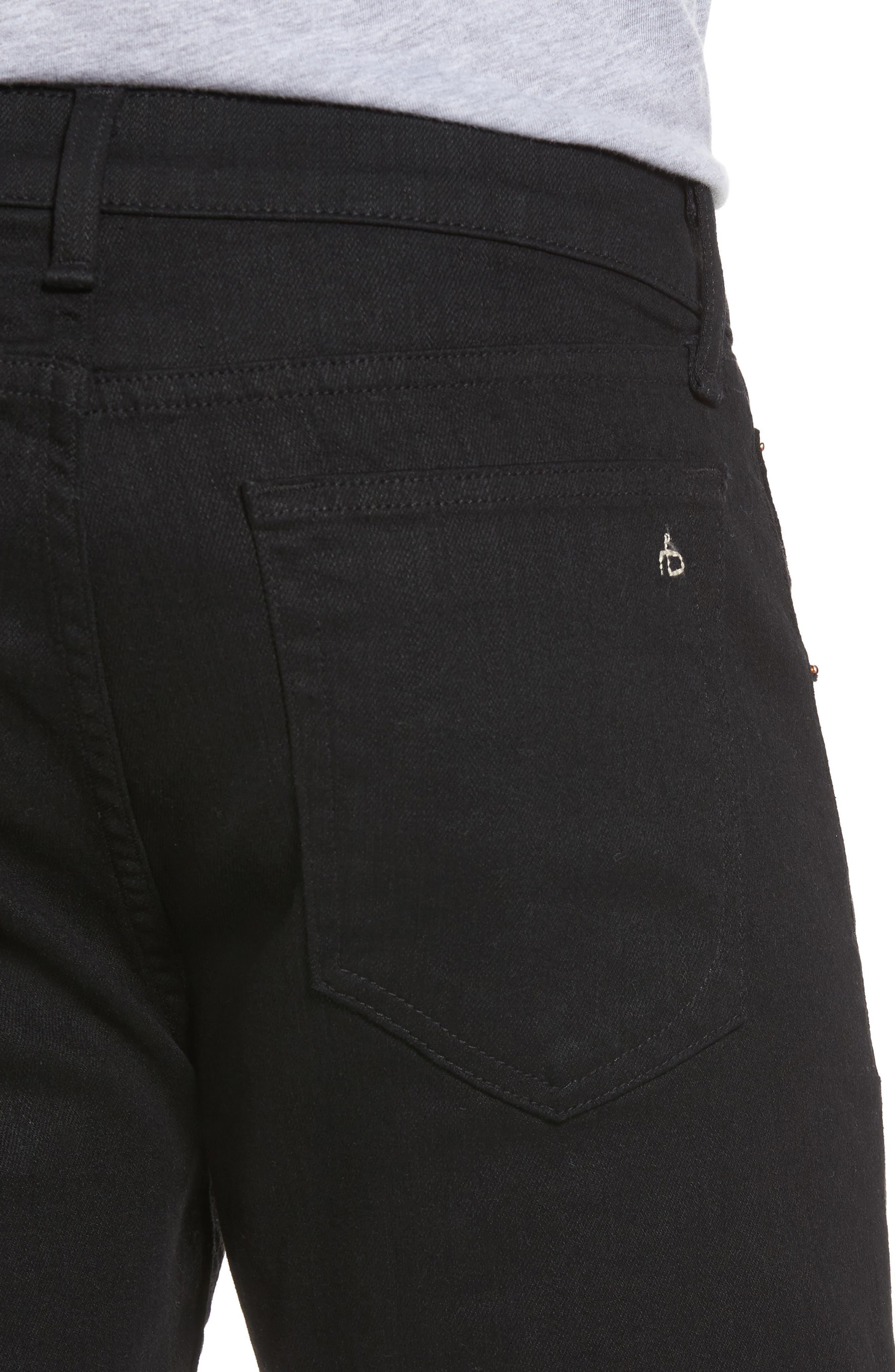Fit 2 Slim Fit Jeans,                             Alternate thumbnail 4, color,                             BLACK