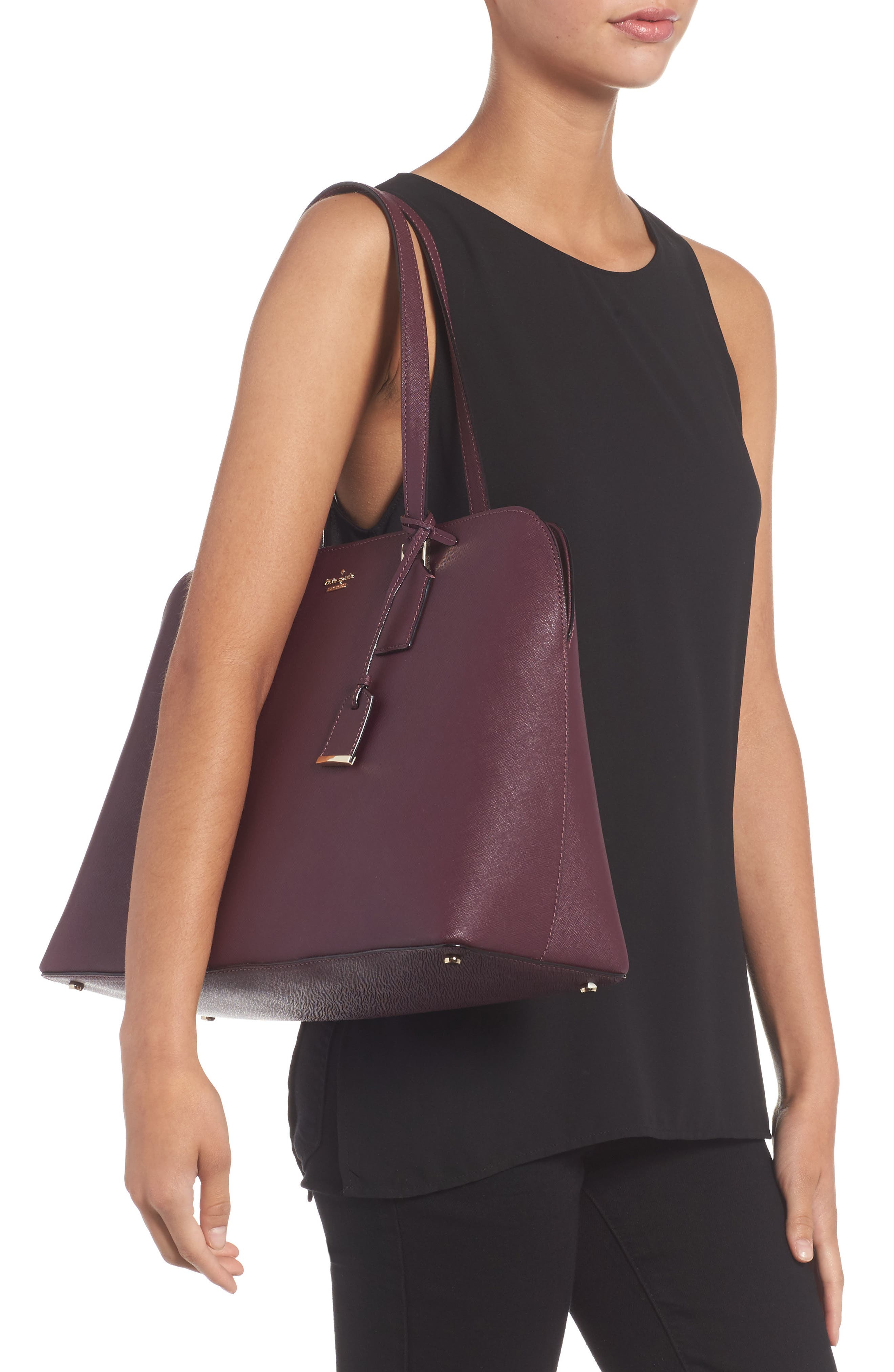 cameron street - marybeth leather tote,                             Alternate thumbnail 2, color,                             513