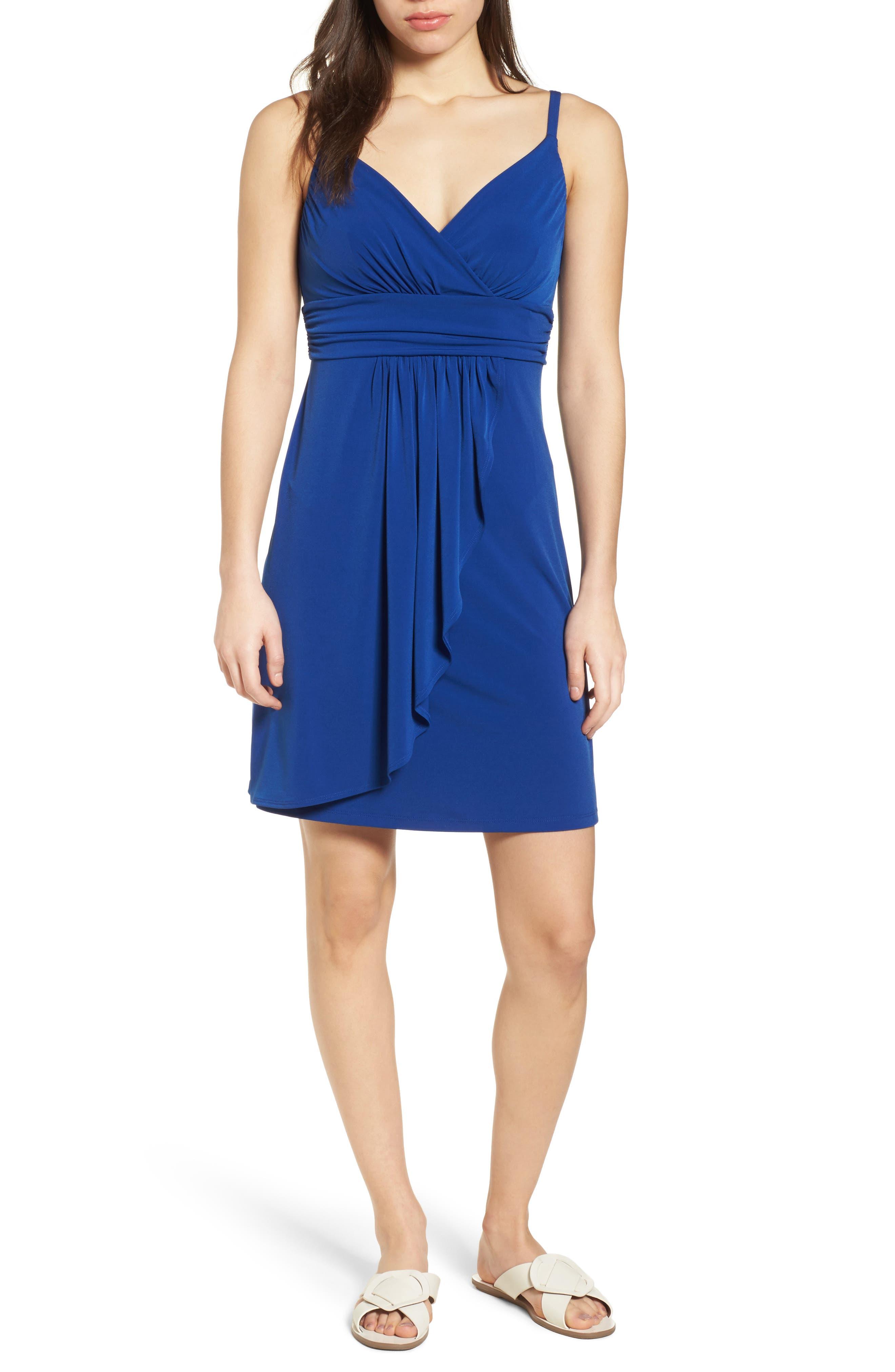 Elenna Stretch Jersey Sundress,                         Main,                         color, DARK BLUE