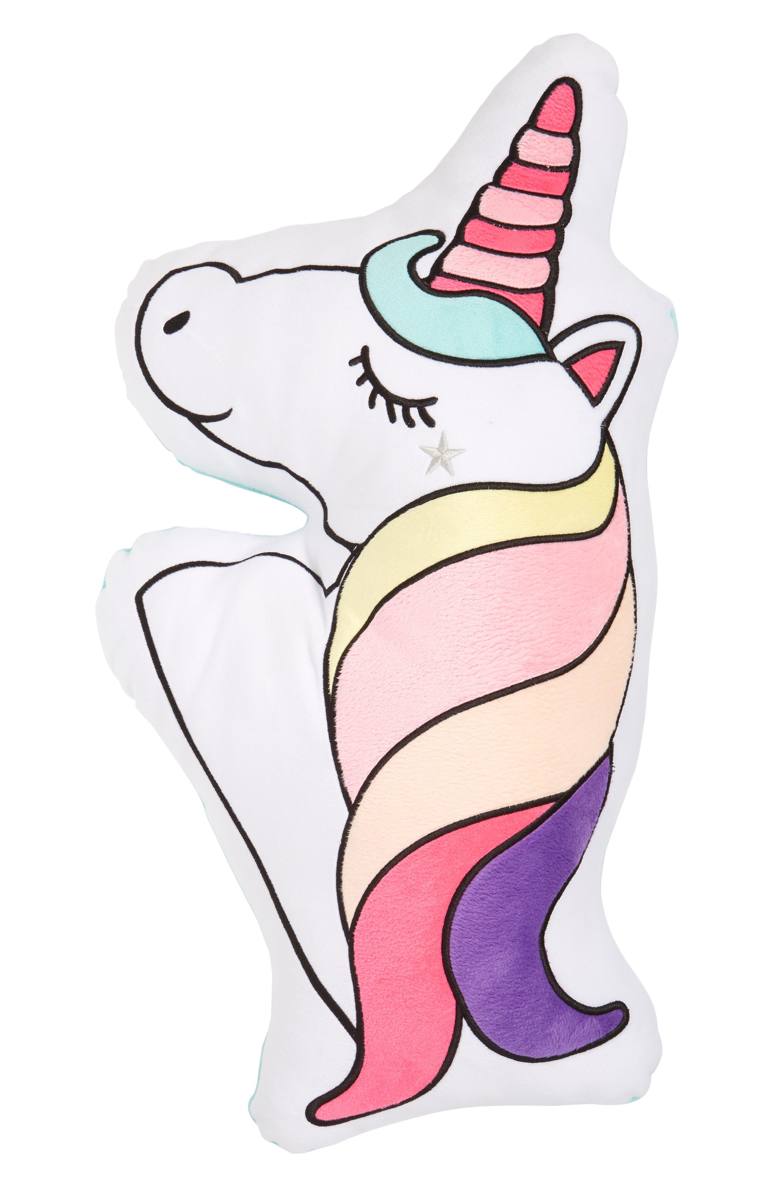 Unicorn Pillow,                             Main thumbnail 1, color,                             101