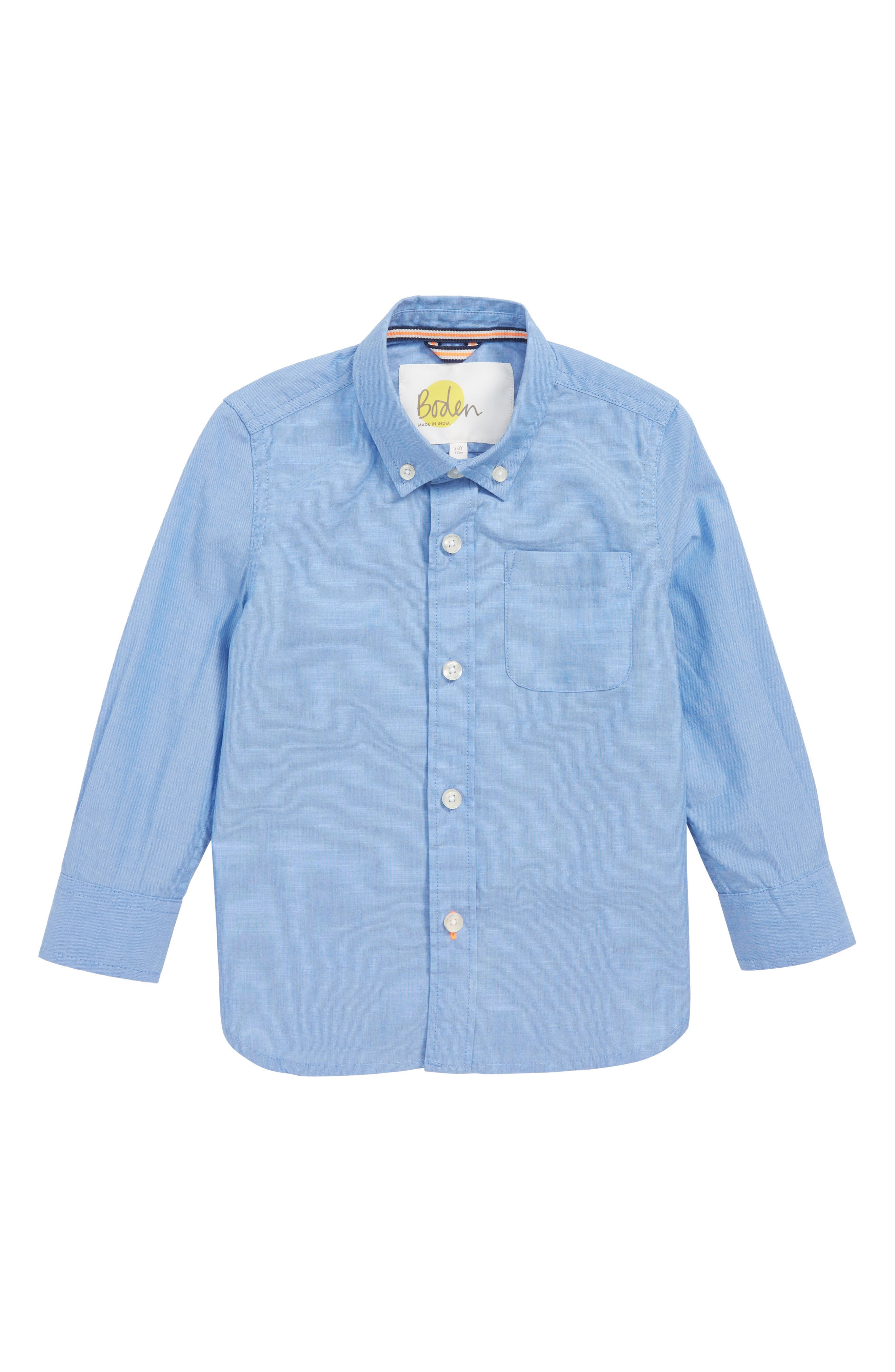 Smart Woven Shirt,                         Main,                         color, WAVE BLUE