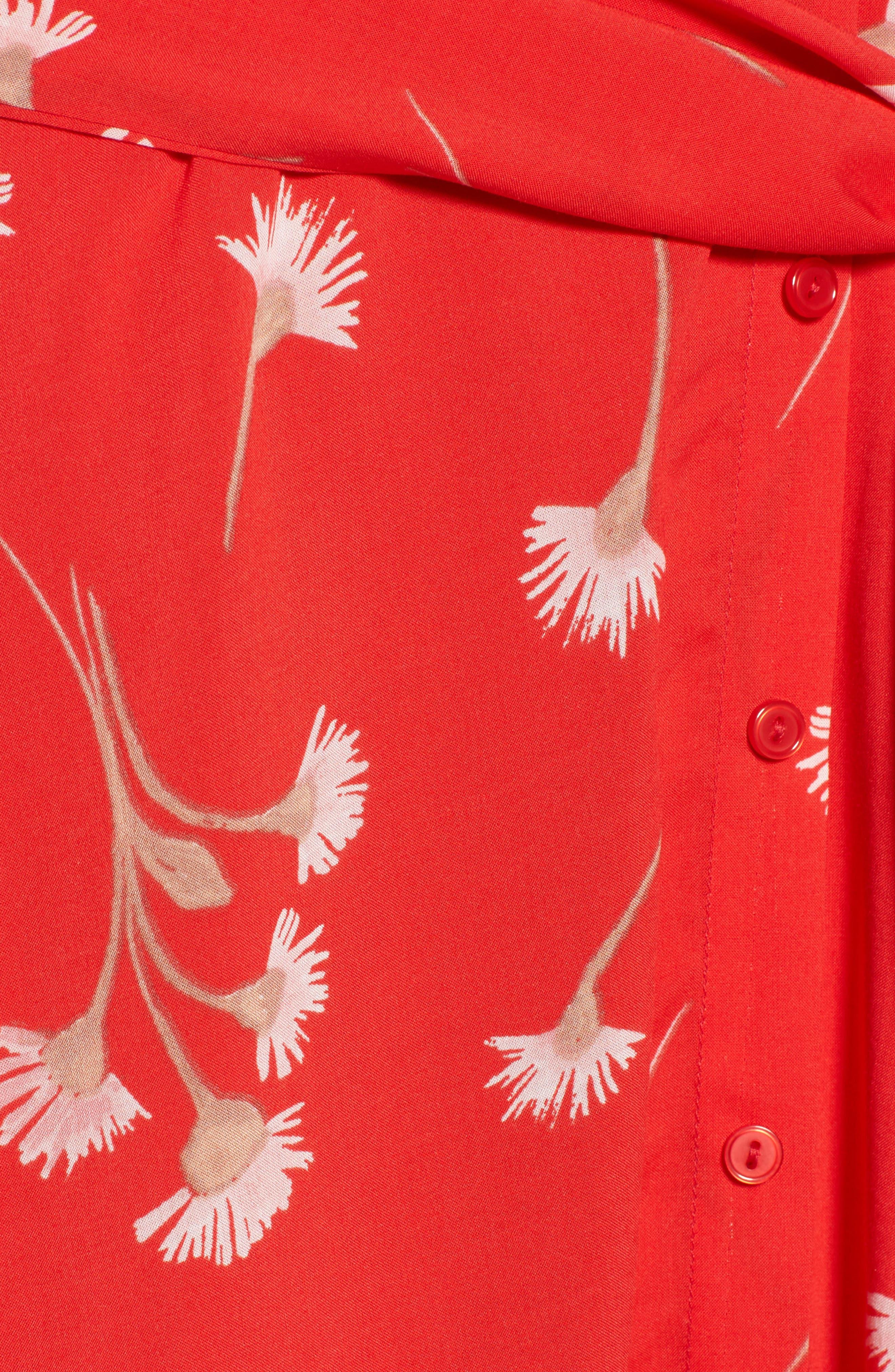 Floral Cutout Back Minidress,                             Alternate thumbnail 5, color,                             601