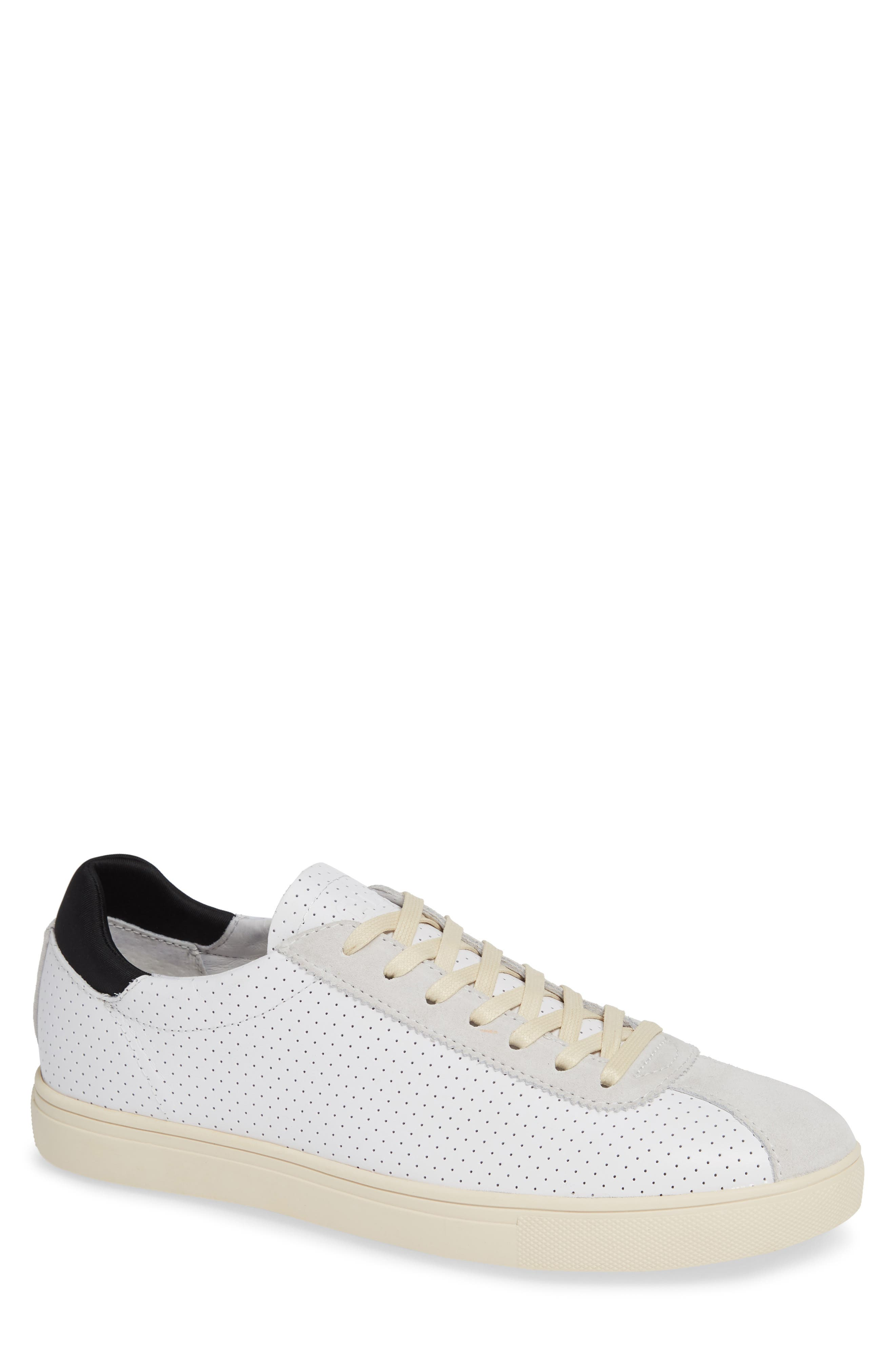 Noah Sneaker,                         Main,                         color, WHITE LEATHER SUEDE CREAM