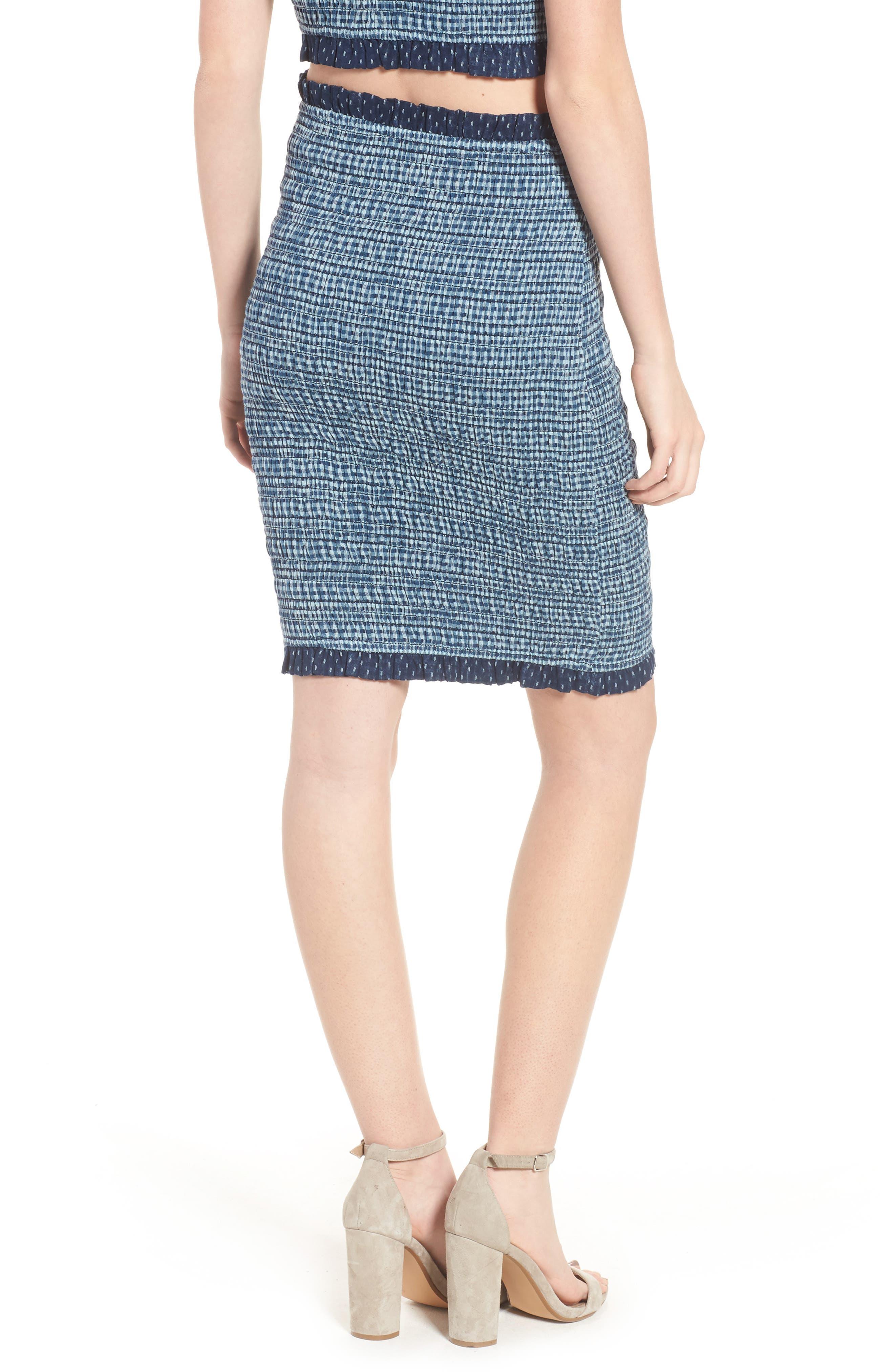 Kylie Smocked Skirt,                             Alternate thumbnail 2, color,                             001
