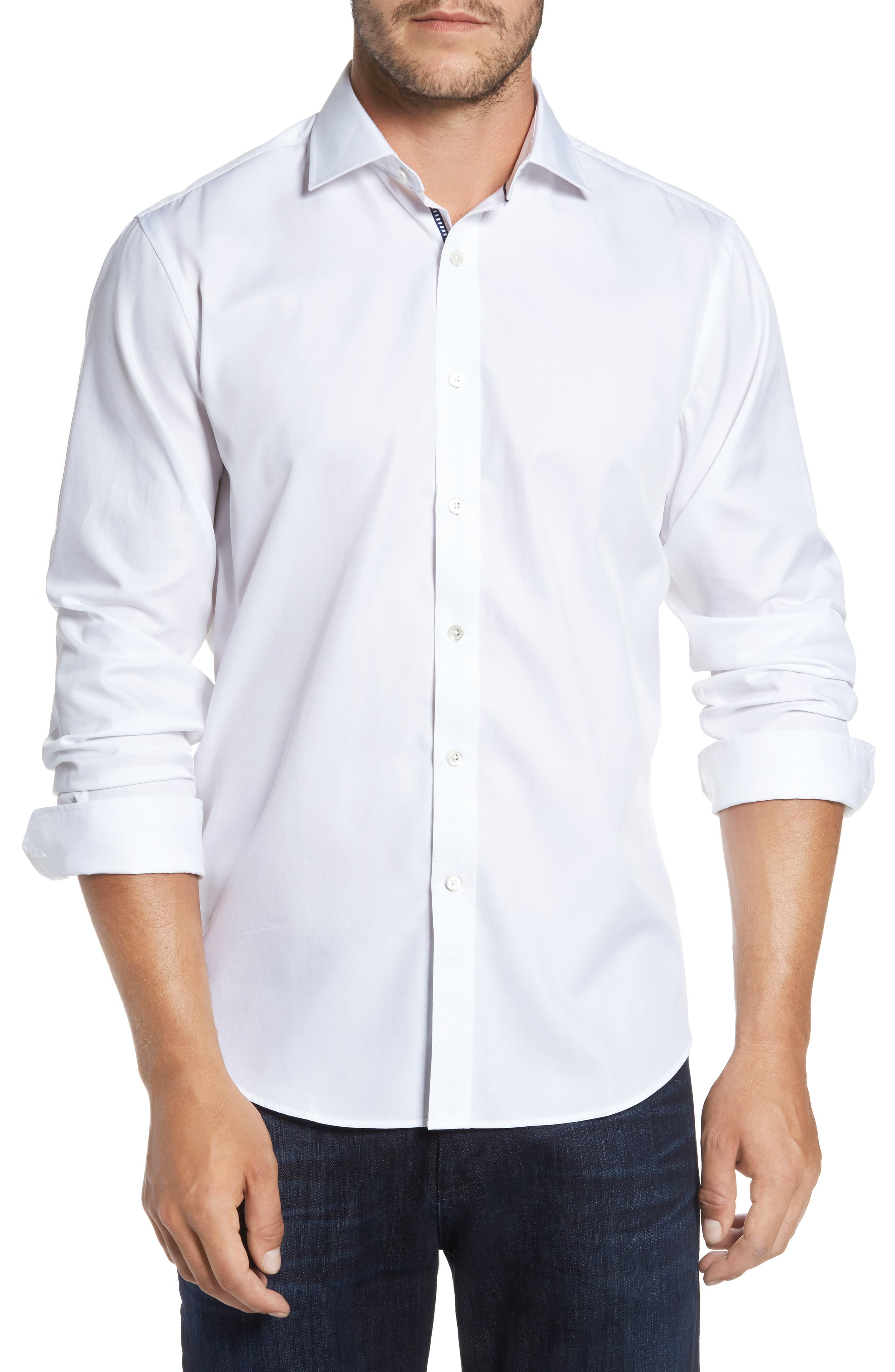 Classic Fit Sport Shirt,                         Main,                         color, 100