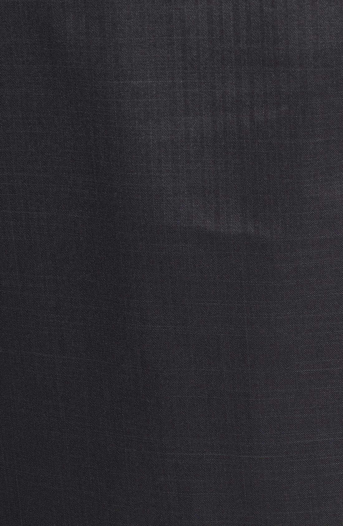 HELLY HANSEN,                             'Denver' Relaxed Fit Herringbone Hooded Jacket,                             Alternate thumbnail 4, color,                             001
