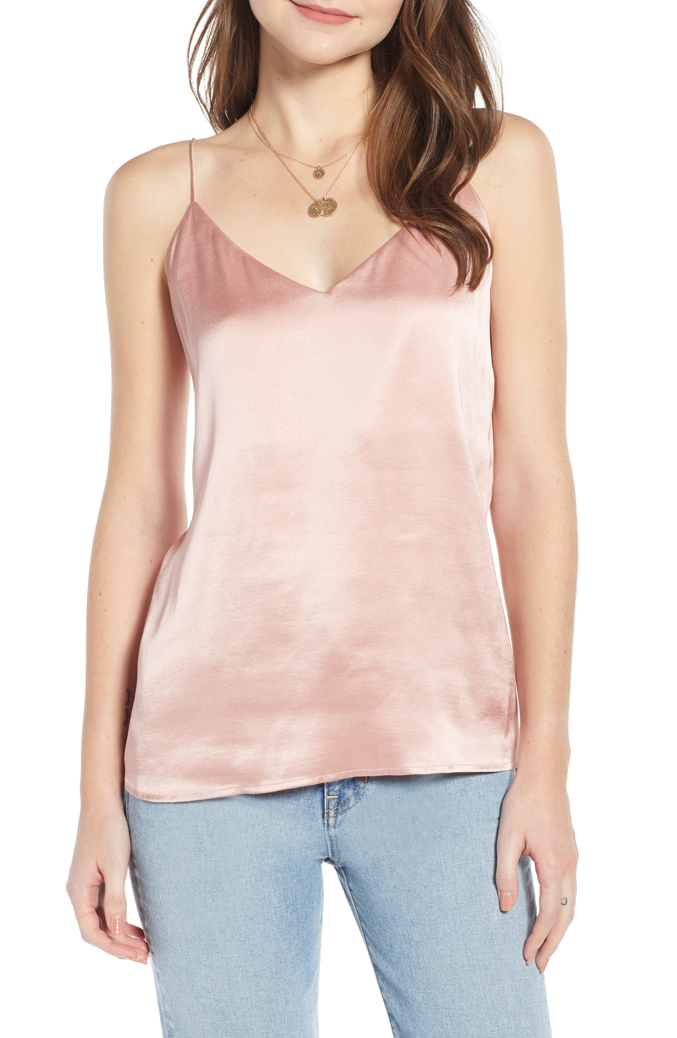Something Navy Delicate Camisole, Pink
