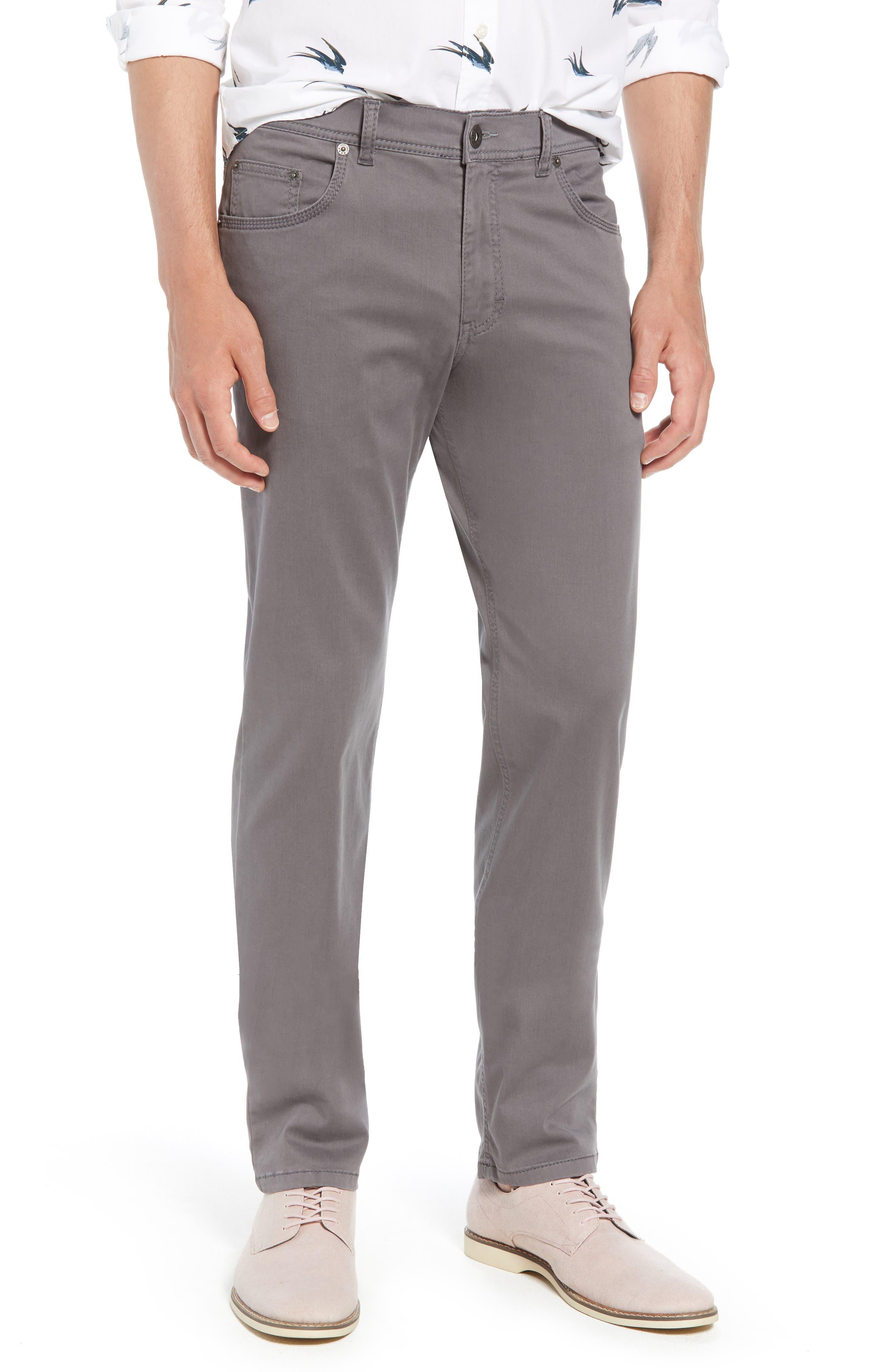 BRAX Cooper Prestige Stretch Cotton Pants, Main, color, GRAPHITE