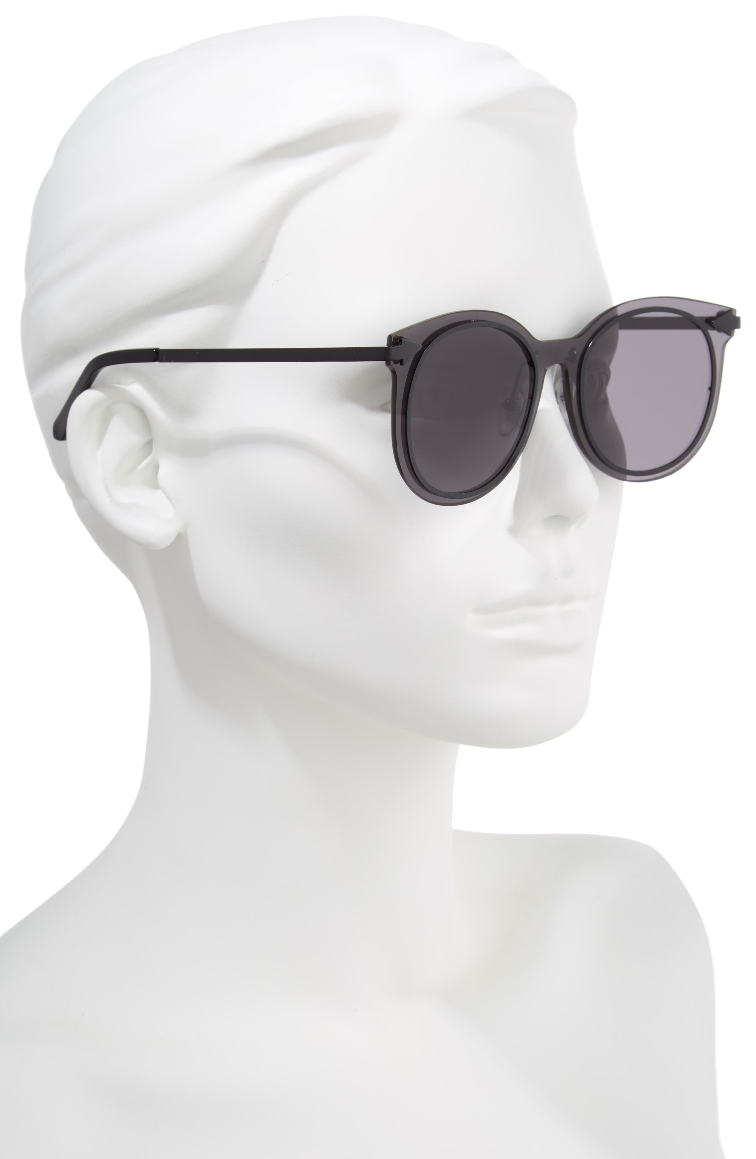 Miss Persimmon 51mm Sunglasses,                             Alternate thumbnail 2, color,                             BLACK
