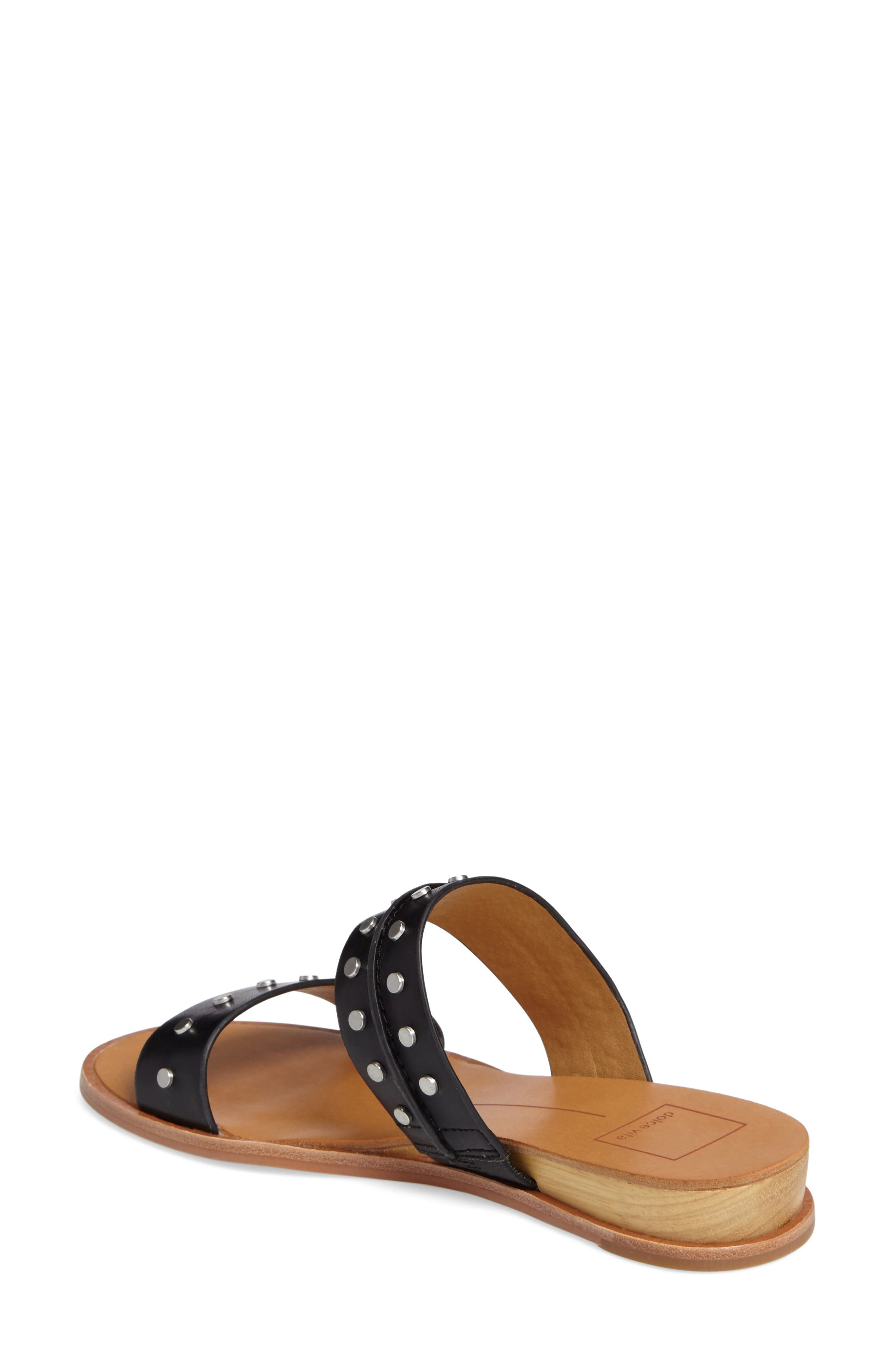 Pacey Studded Wedge Sandal,                             Alternate thumbnail 2, color,                             001