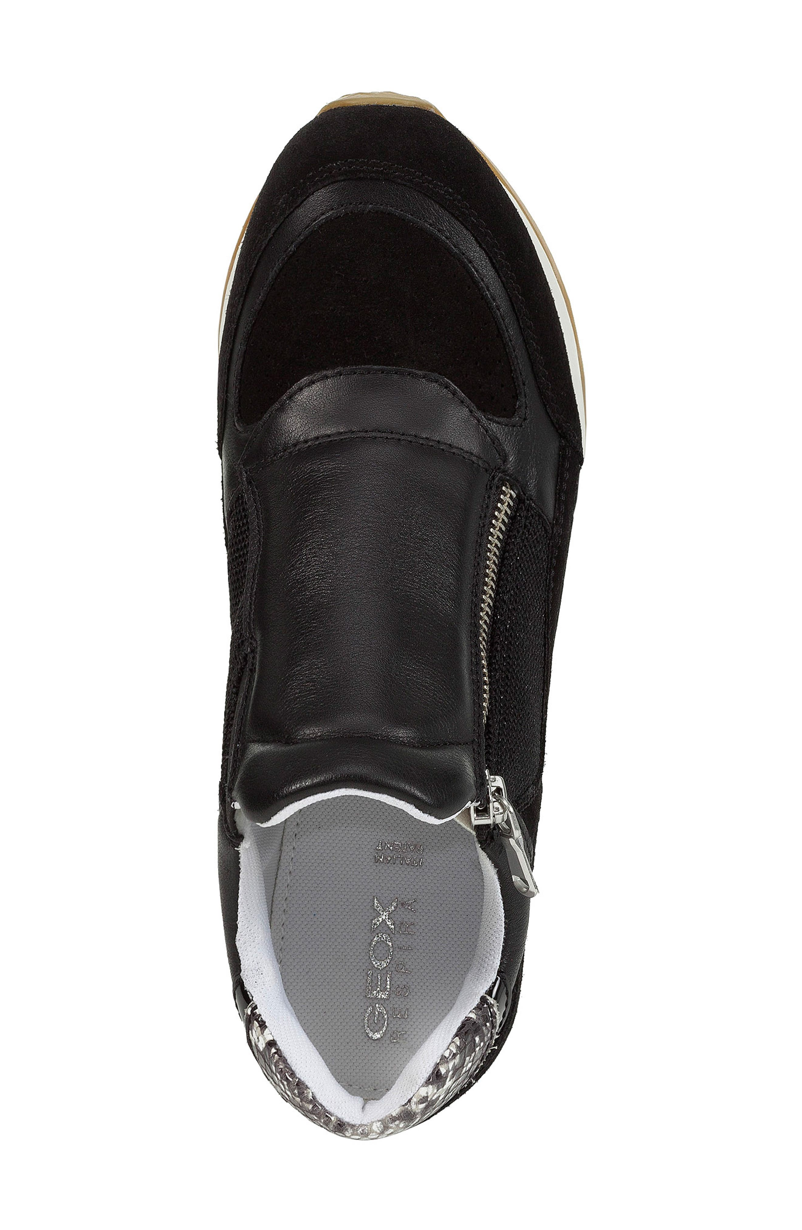 Nydame Wedge Sneaker,                             Alternate thumbnail 5, color,                             BLACK/ BLACK LEATHER