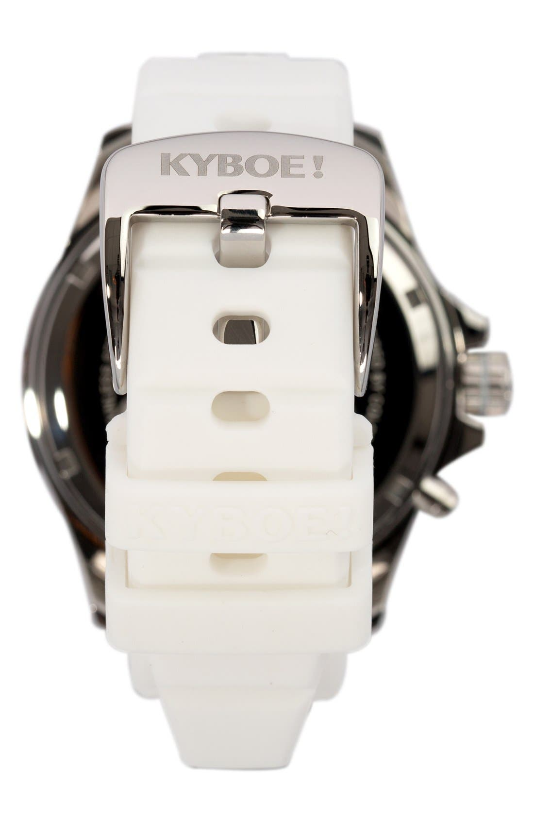 'Power' Silicone Strap Watch, 48mm,                             Alternate thumbnail 3, color,                             WHITE/ WHITE