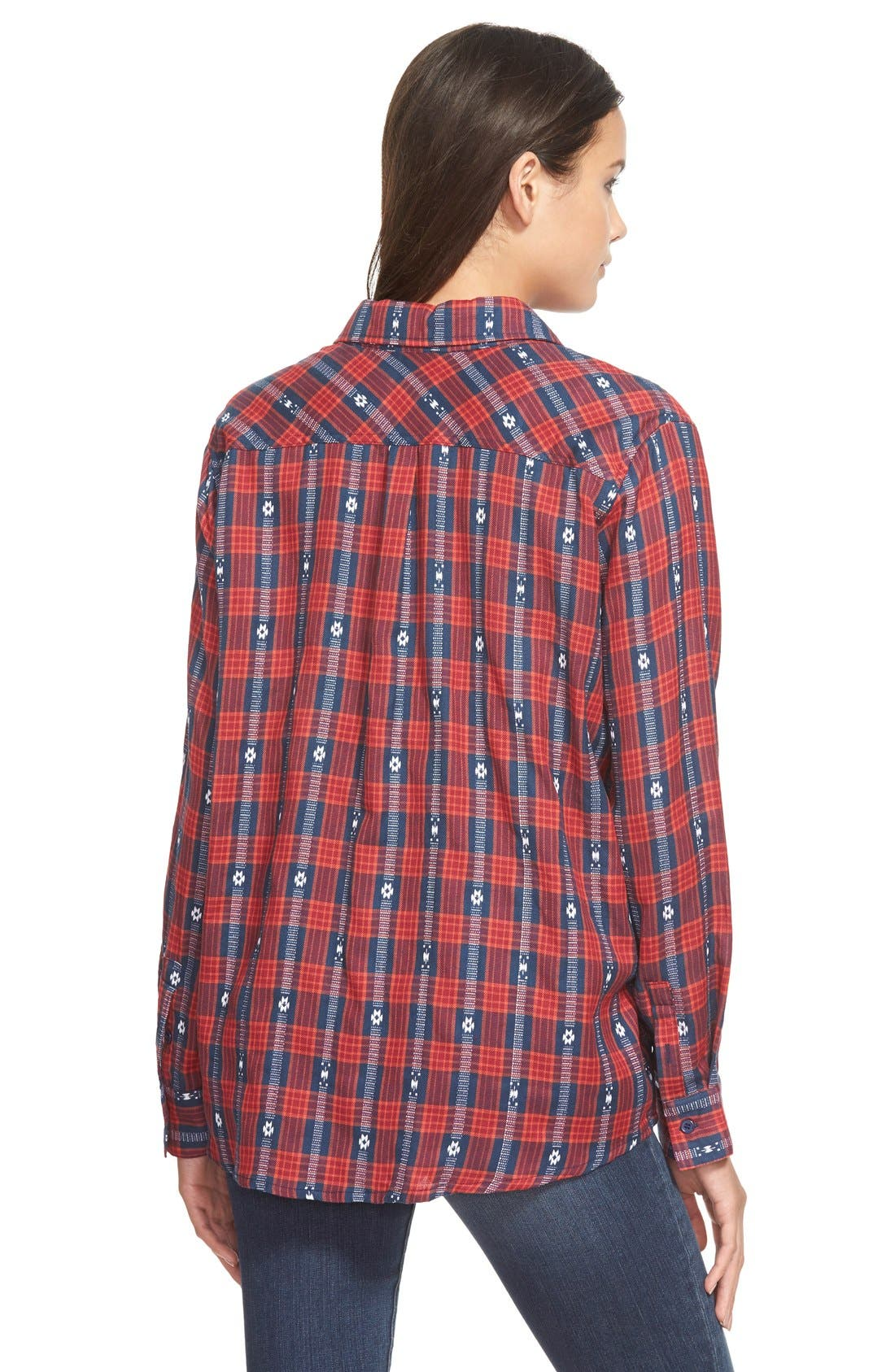 Embroidered Plaid Shirt,                             Alternate thumbnail 2, color,                             625