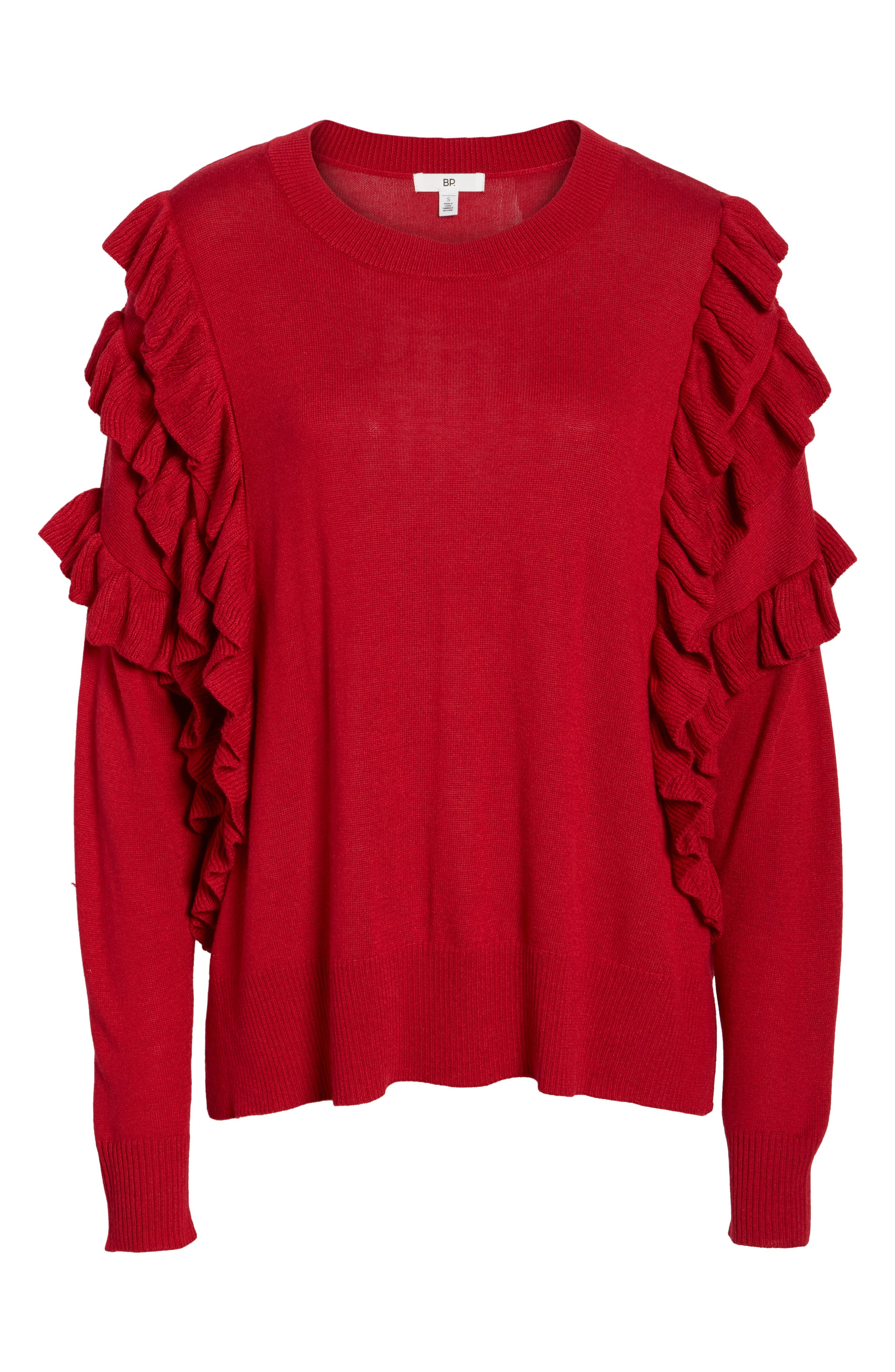 Ruffle Pullover,                             Alternate thumbnail 17, color,