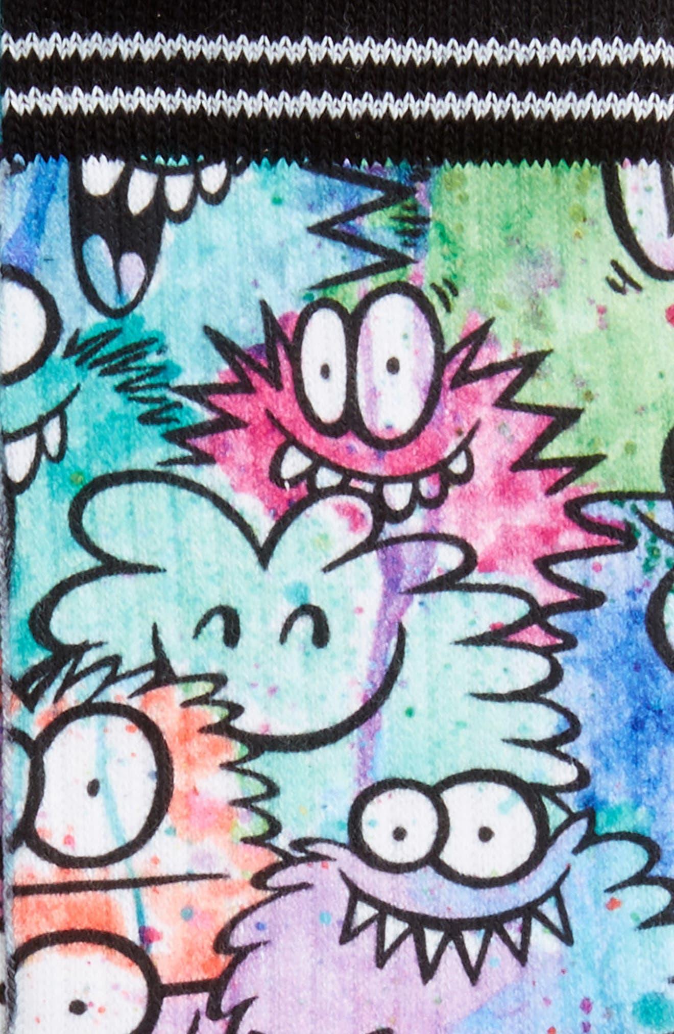STANCE,                             Monster Party Socks,                             Alternate thumbnail 2, color,                             400