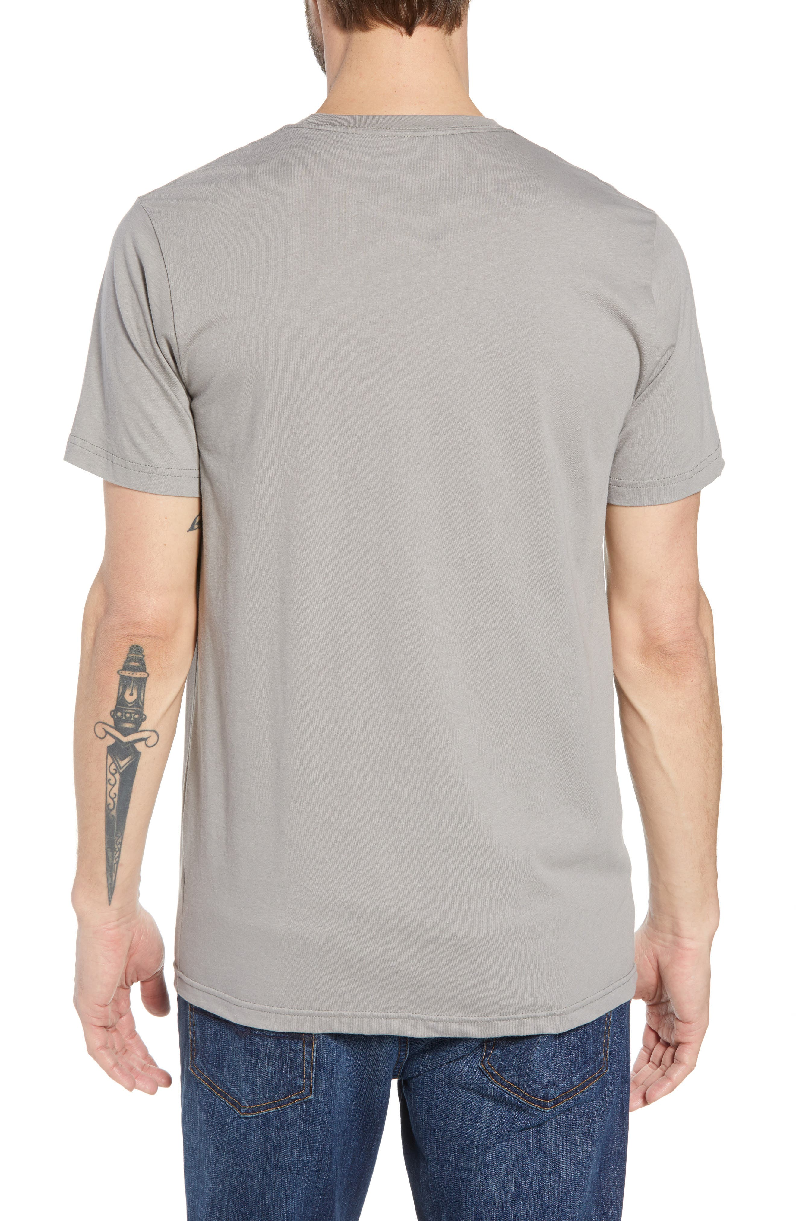Fitz Roy Bear Crewneck T-Shirt,                             Alternate thumbnail 2, color,                             FEATHER GREY