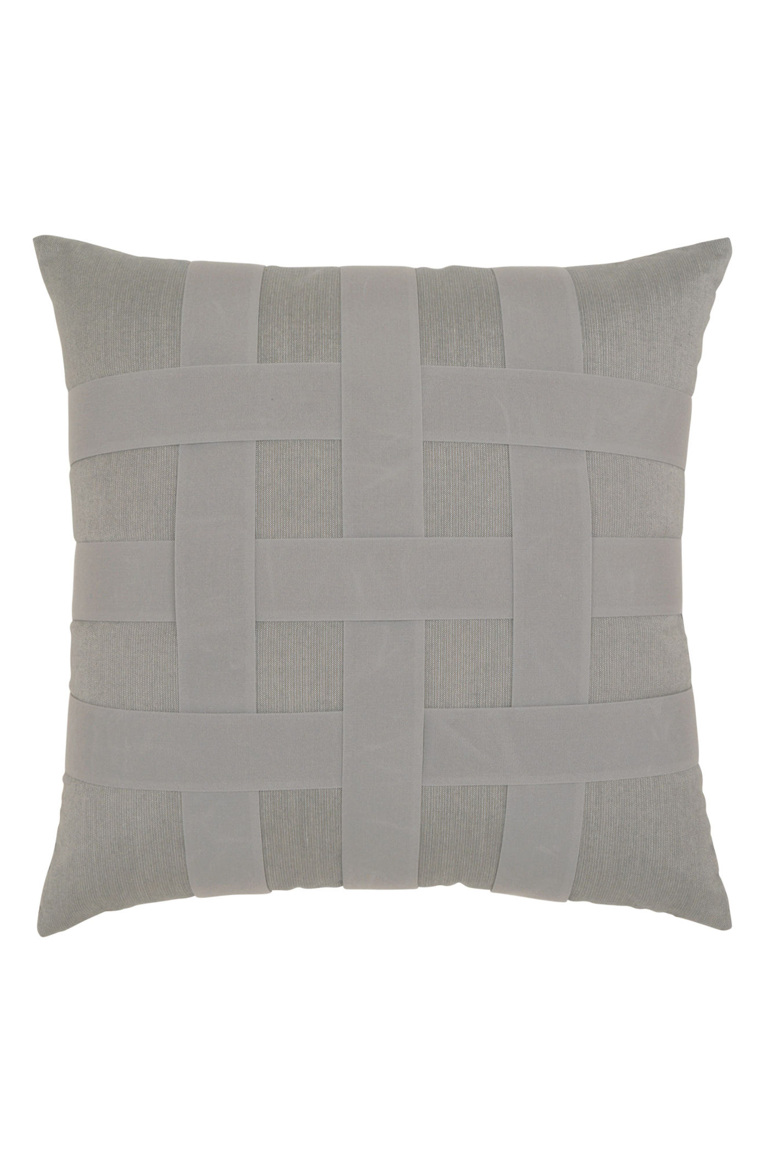 Basket Weave Indoor/Outdoor Accent Pillow,                             Main thumbnail 1, color,                             GREY