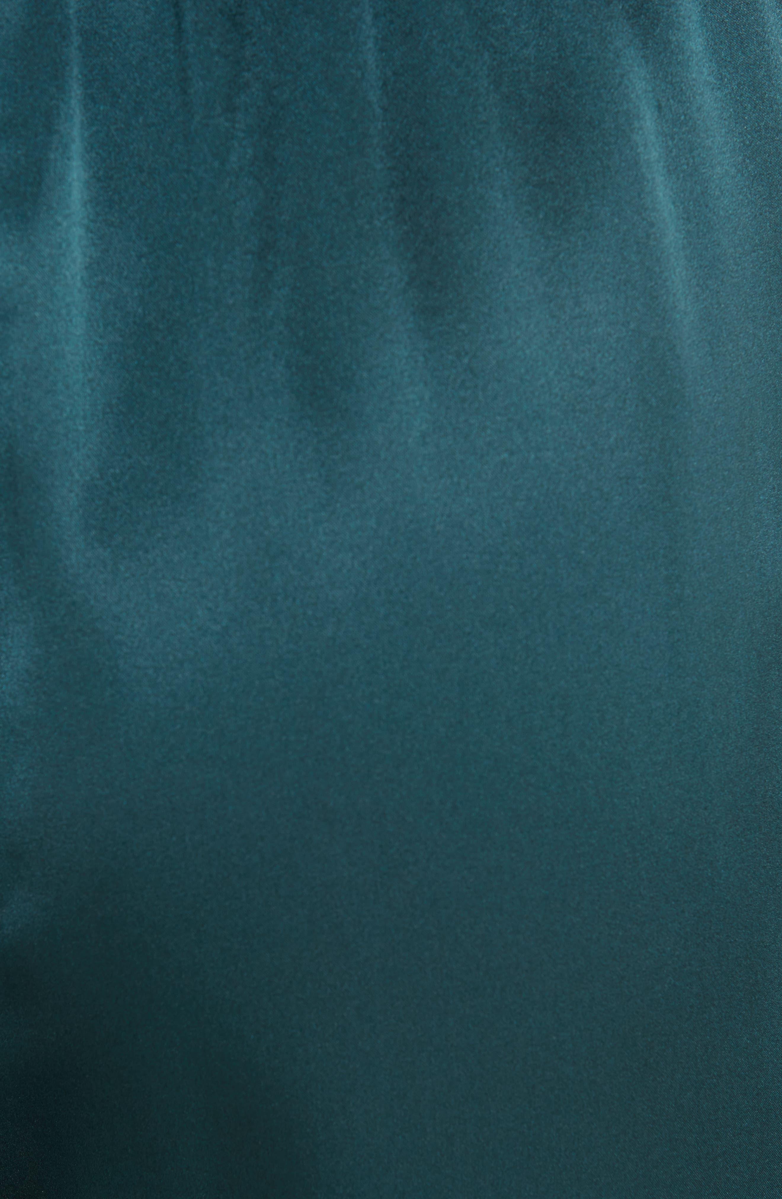 Mes Desmoiselles Deep Satin Almond Jumpsuit,                             Alternate thumbnail 5, color,                             SAPPHIRE