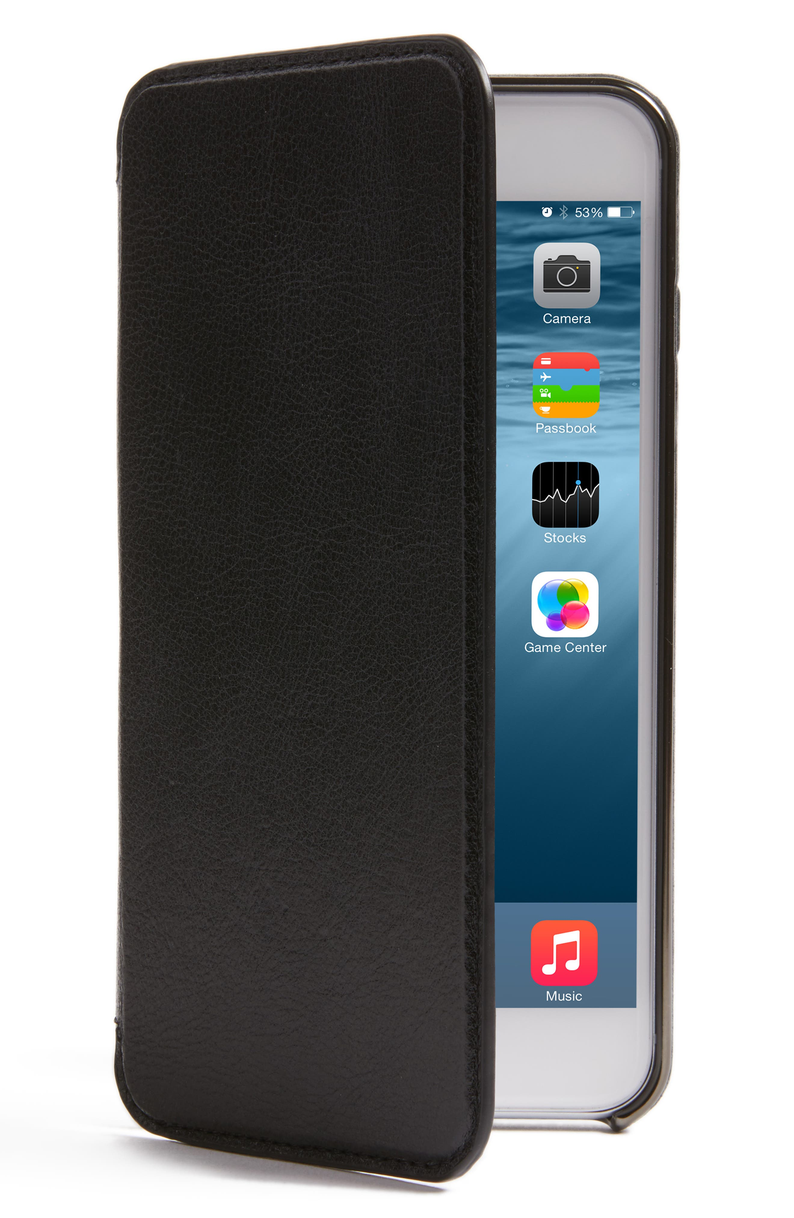 SENA,                             iPhone 7/8 Plus Ultra Thin Leather Wallet Case,                             Main thumbnail 1, color,                             005