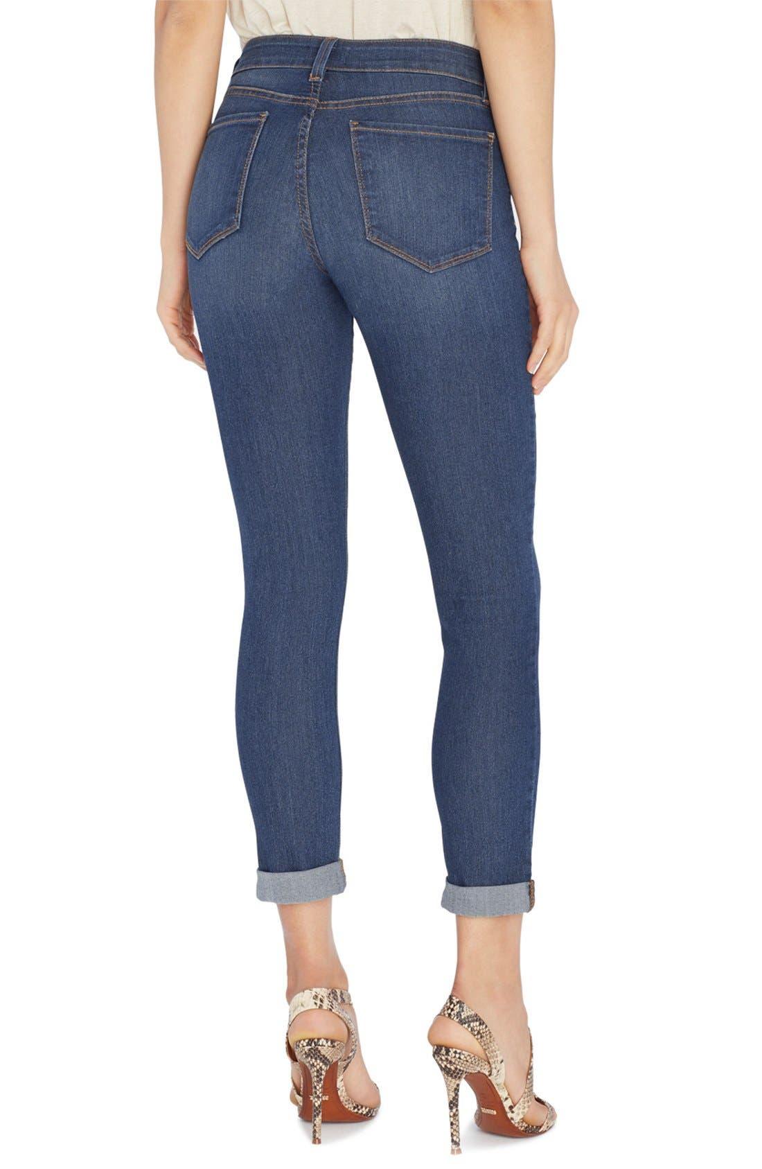 'Annabelle' Stretch Boyfriend Jeans,                             Alternate thumbnail 4, color,                             401