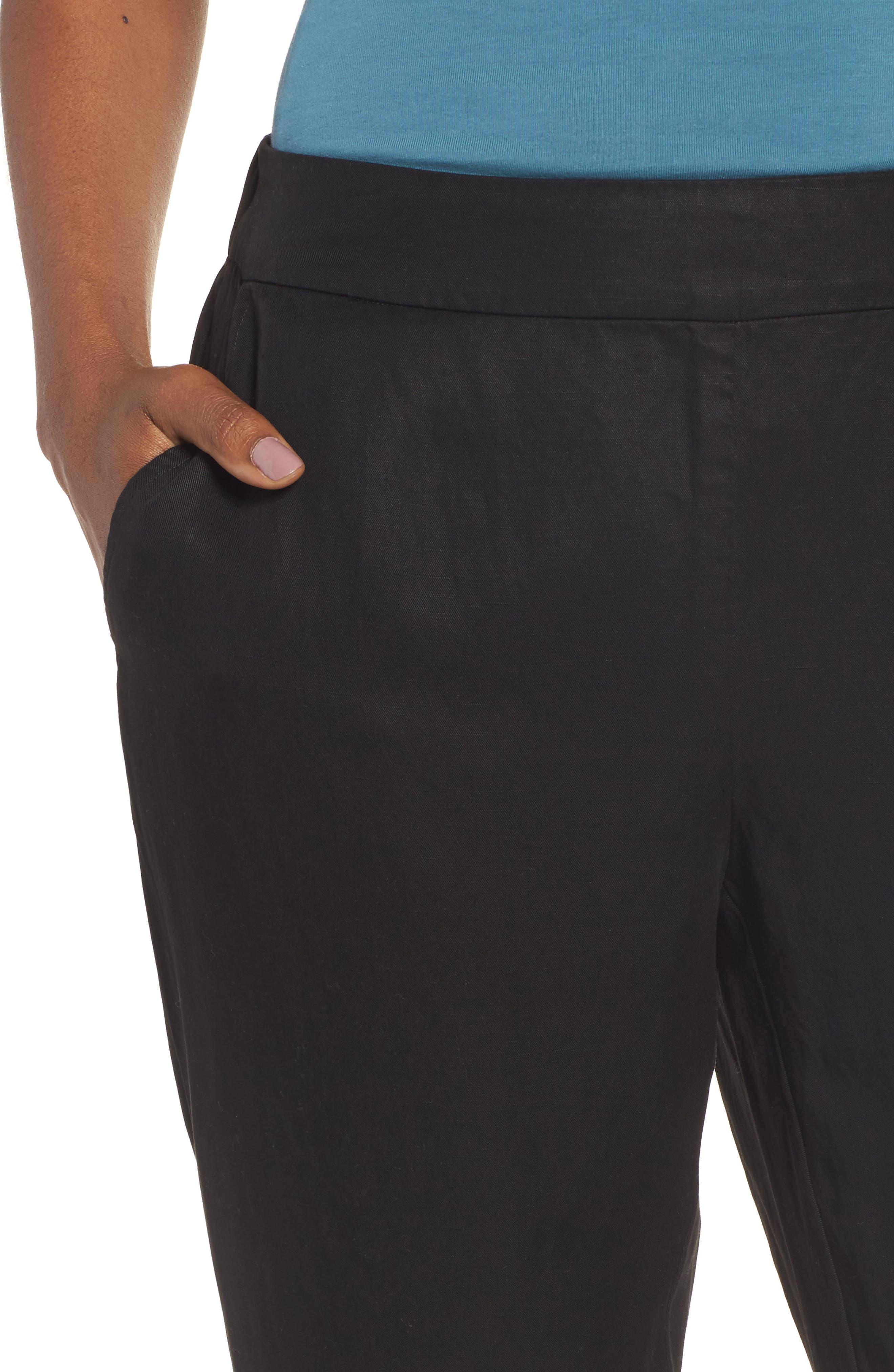 Tencel<sup>®</sup> & Linen Ankle Pants,                             Alternate thumbnail 7, color,