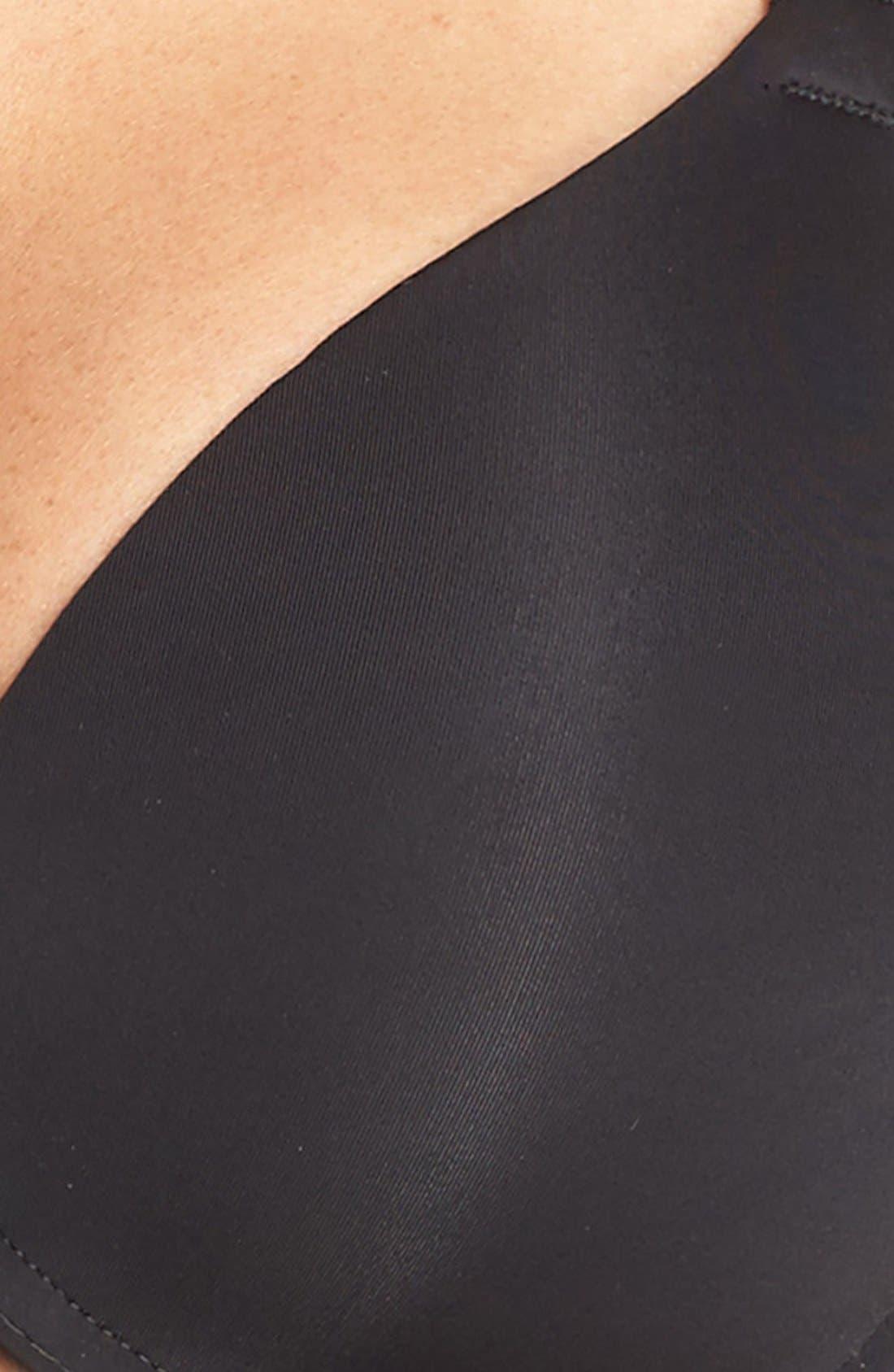 'Pure Luxe' Underwire T-Shirt Bra,                             Alternate thumbnail 4, color,                             BLACK