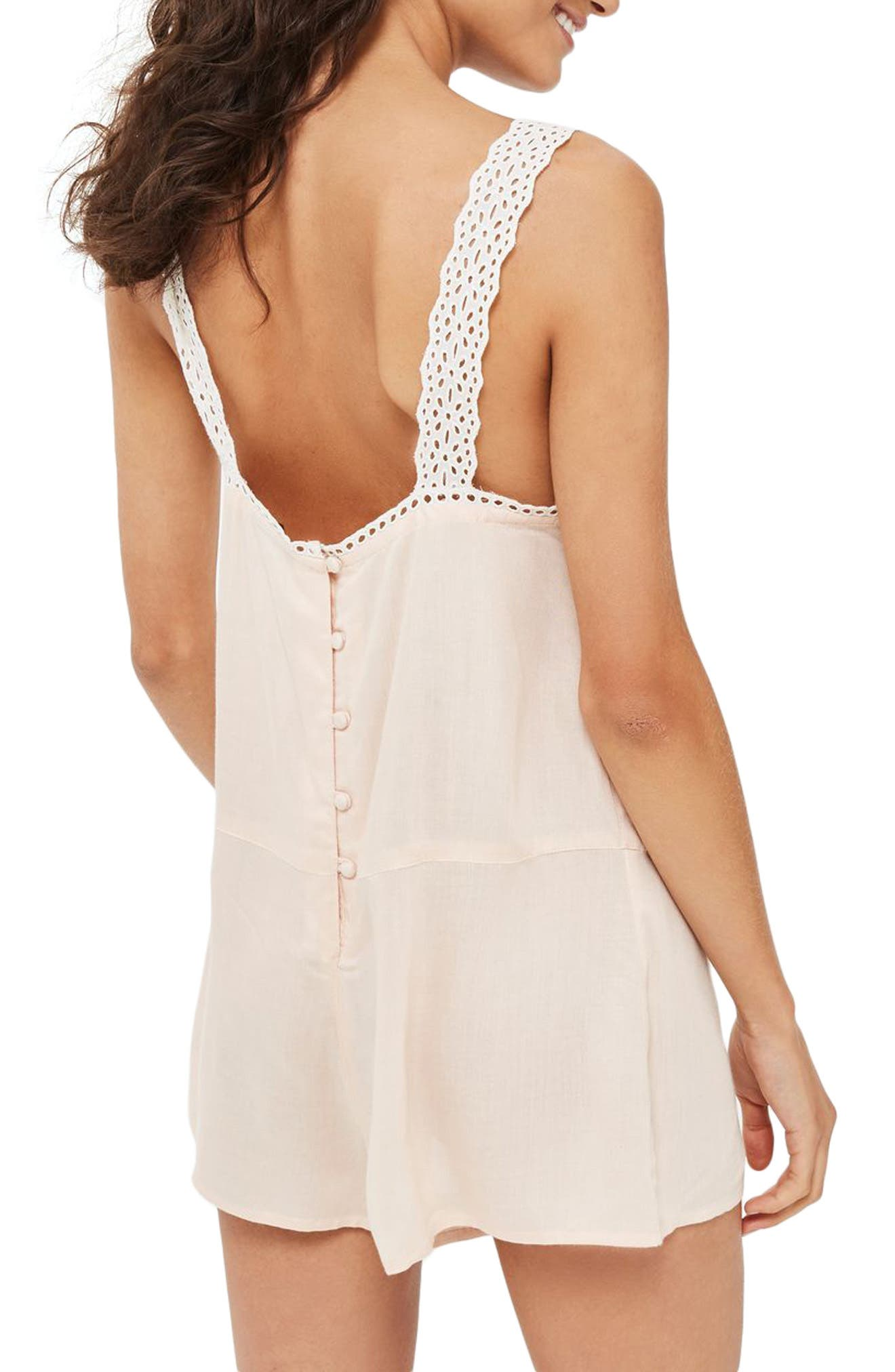Broderie Sleep Romper,                             Alternate thumbnail 2, color,                             650