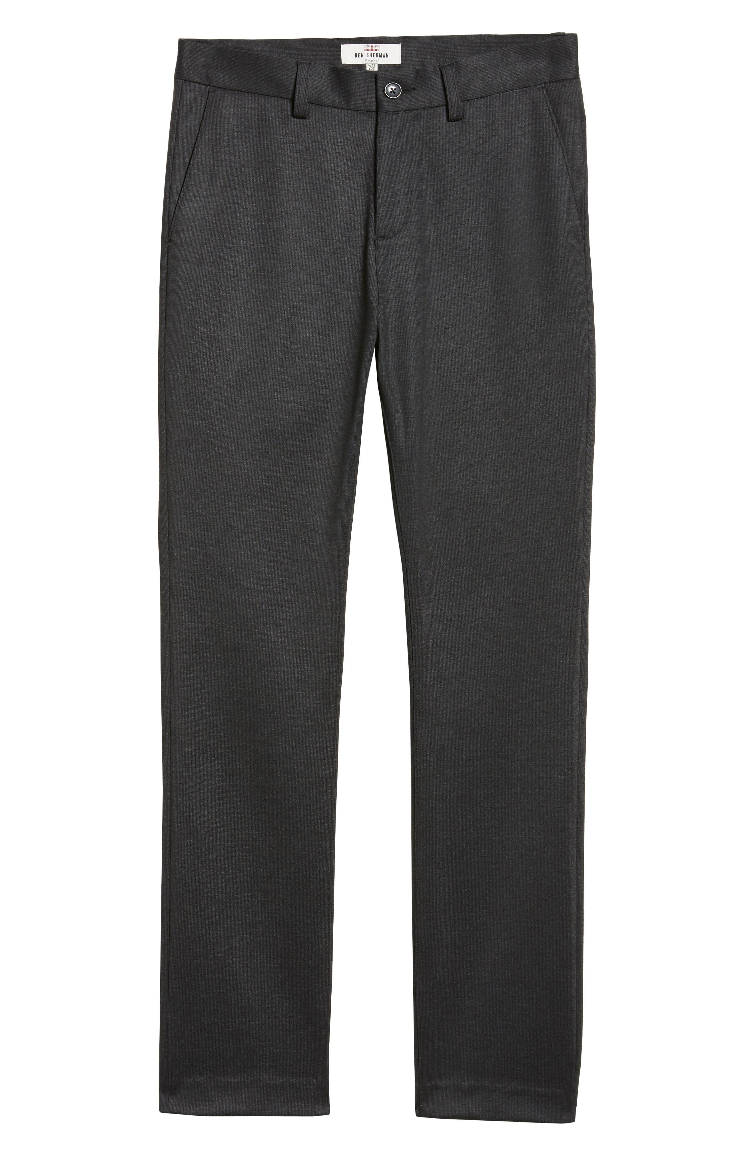 Slim Fit Ponte Knit Trousers,                             Alternate thumbnail 6, color,                             020
