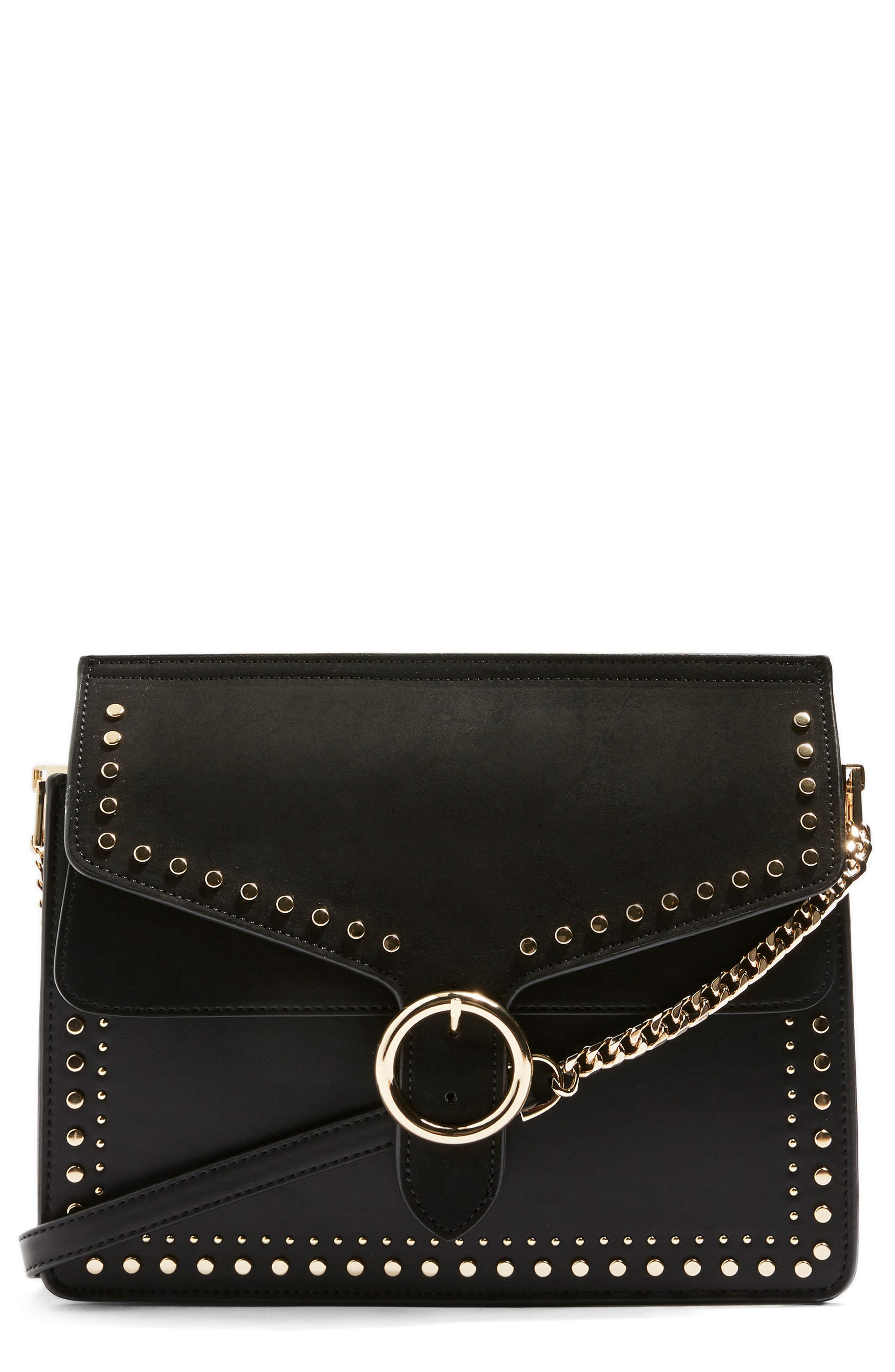 Peony Studded Shoulder Bag,                             Main thumbnail 1, color,                             001