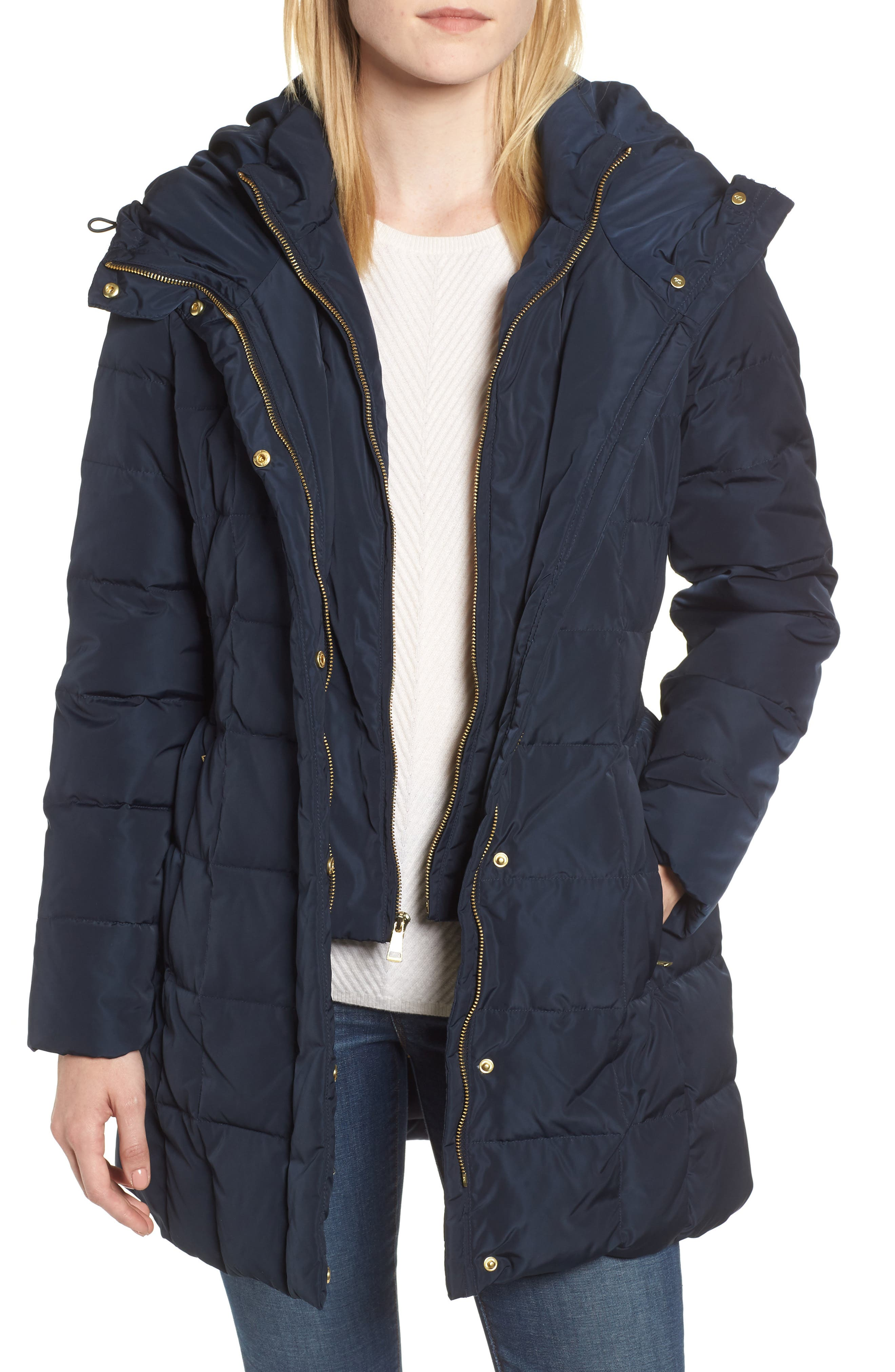 Cole Haan Signature Bib Inset Coat