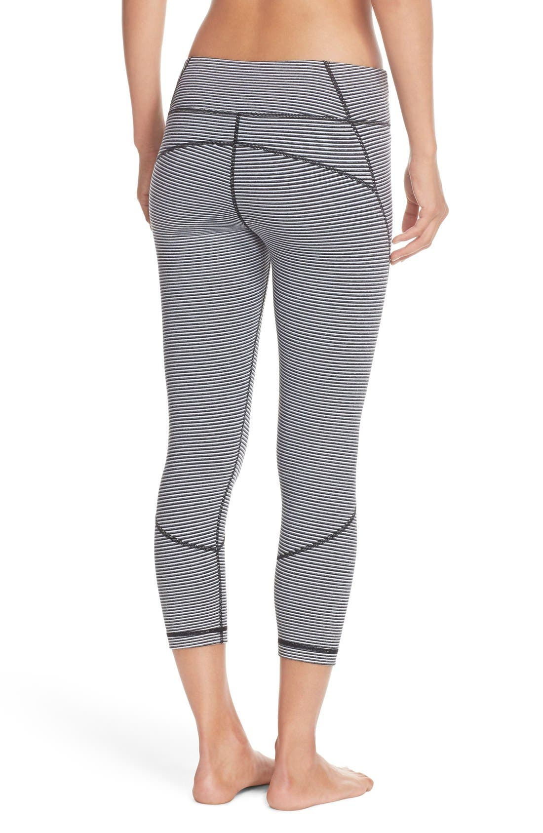 'Live In' Crop Leggings,                             Alternate thumbnail 4, color,                             001