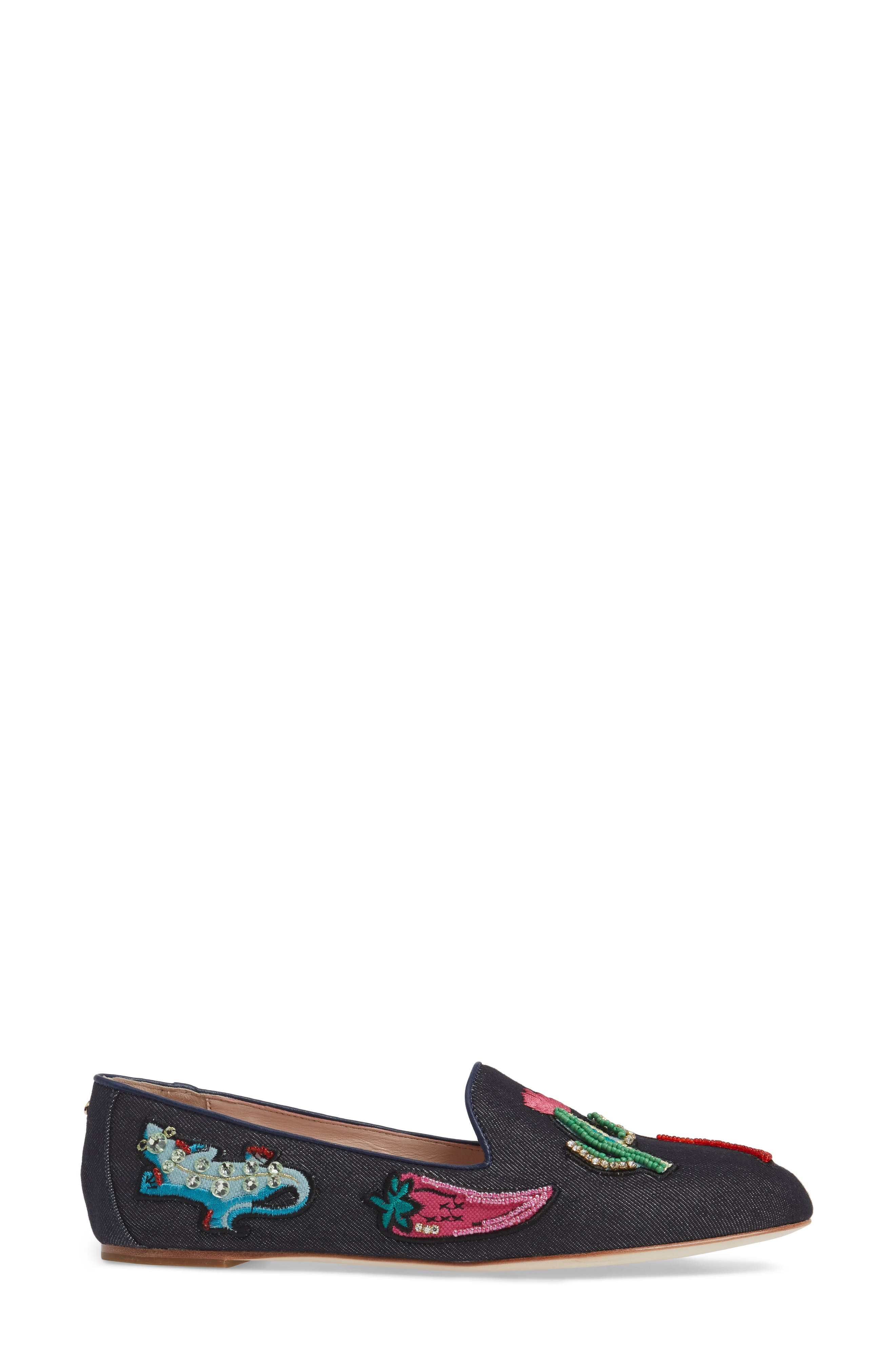 saville embroidered loafer,                             Alternate thumbnail 3, color,                             489