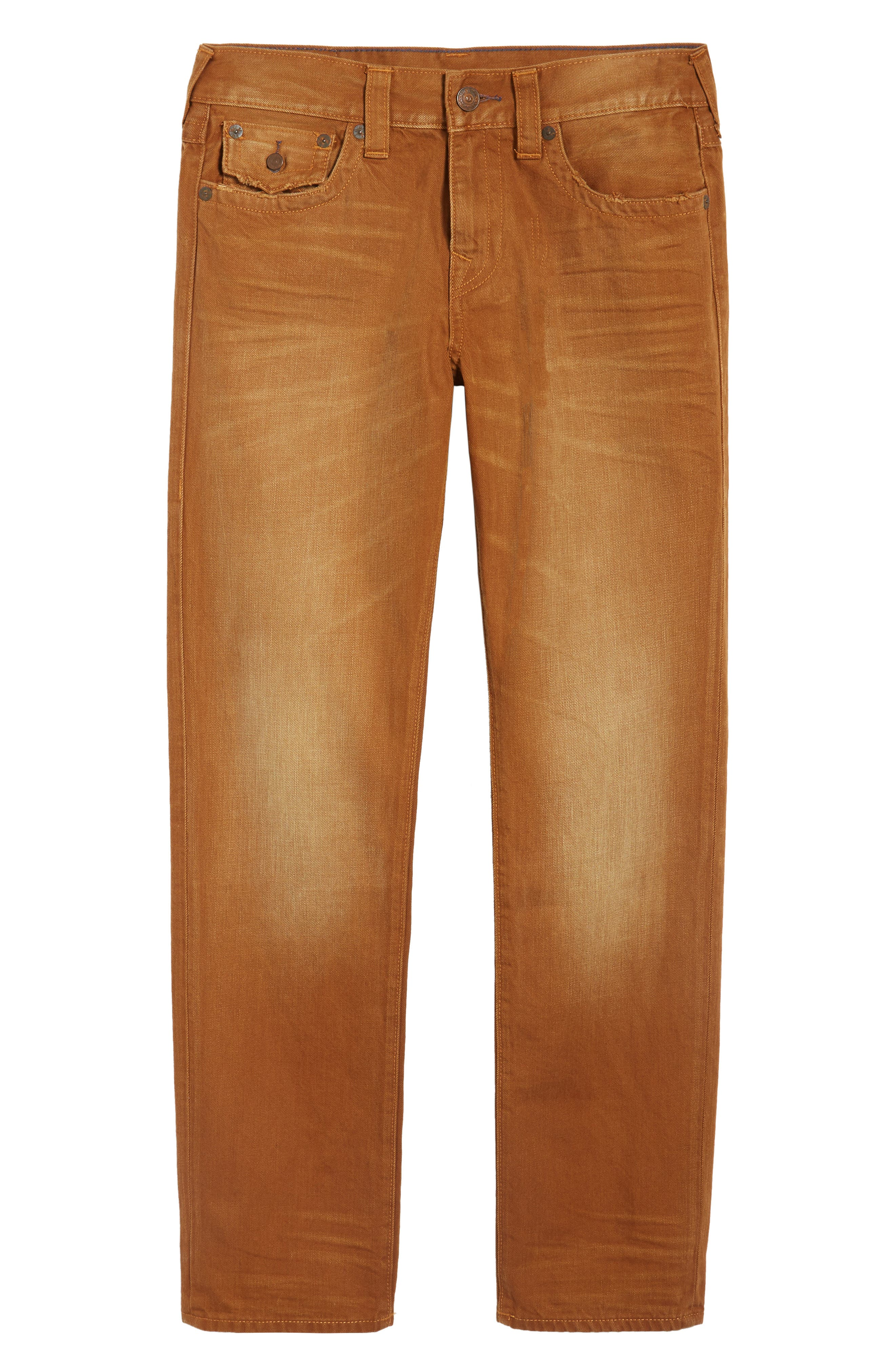 Geno Straight Fit Jeans,                             Alternate thumbnail 6, color,                             GOLDEN ROAD