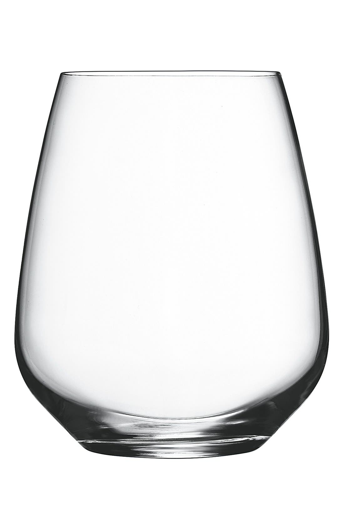 'Crescendo' Stemless Wine Glasses,                         Main,                         color, CLEAR