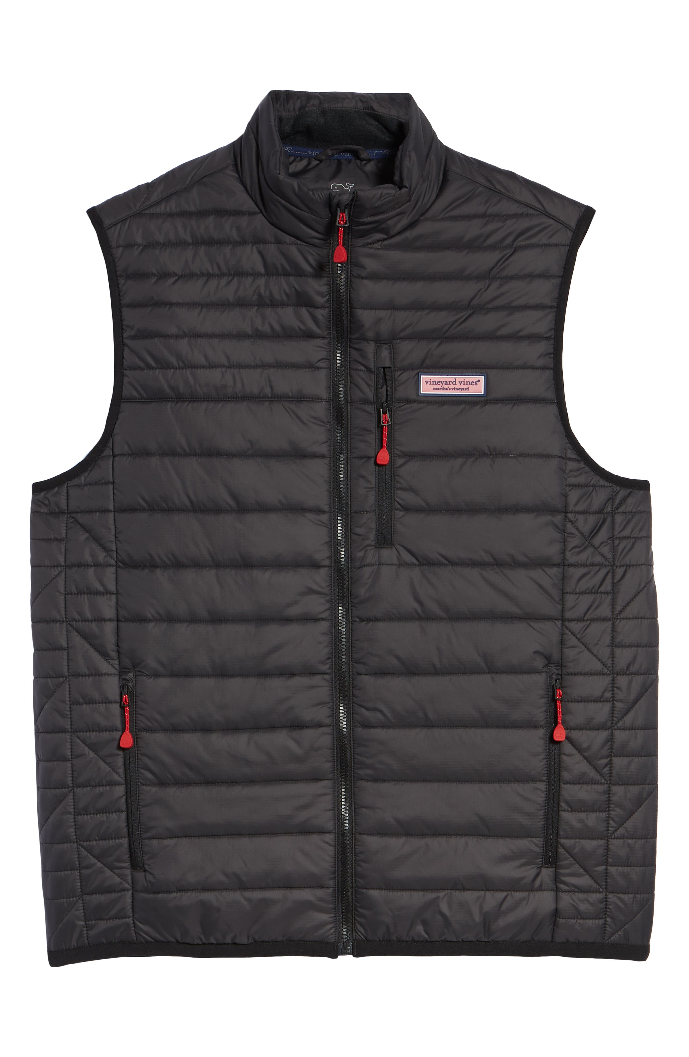VINEYARD VINES,                             Regular Fit Down Mountain Vest,                             Alternate thumbnail 6, color,                             002